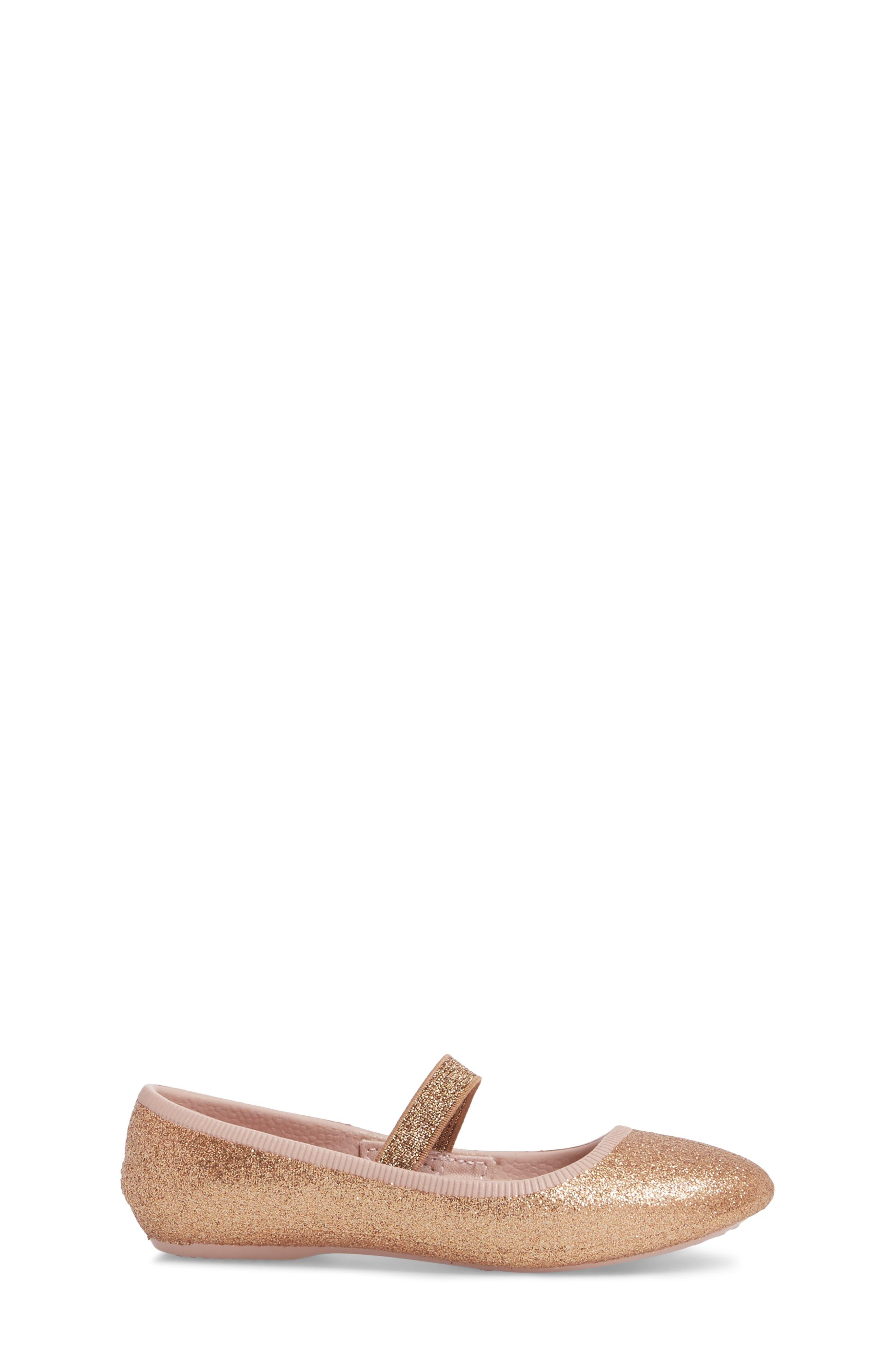 NATIVE SHOES, Margot Bling Glitter Vegan Mary Jane, Alternate thumbnail 3, color, ROSE GOLD BLING