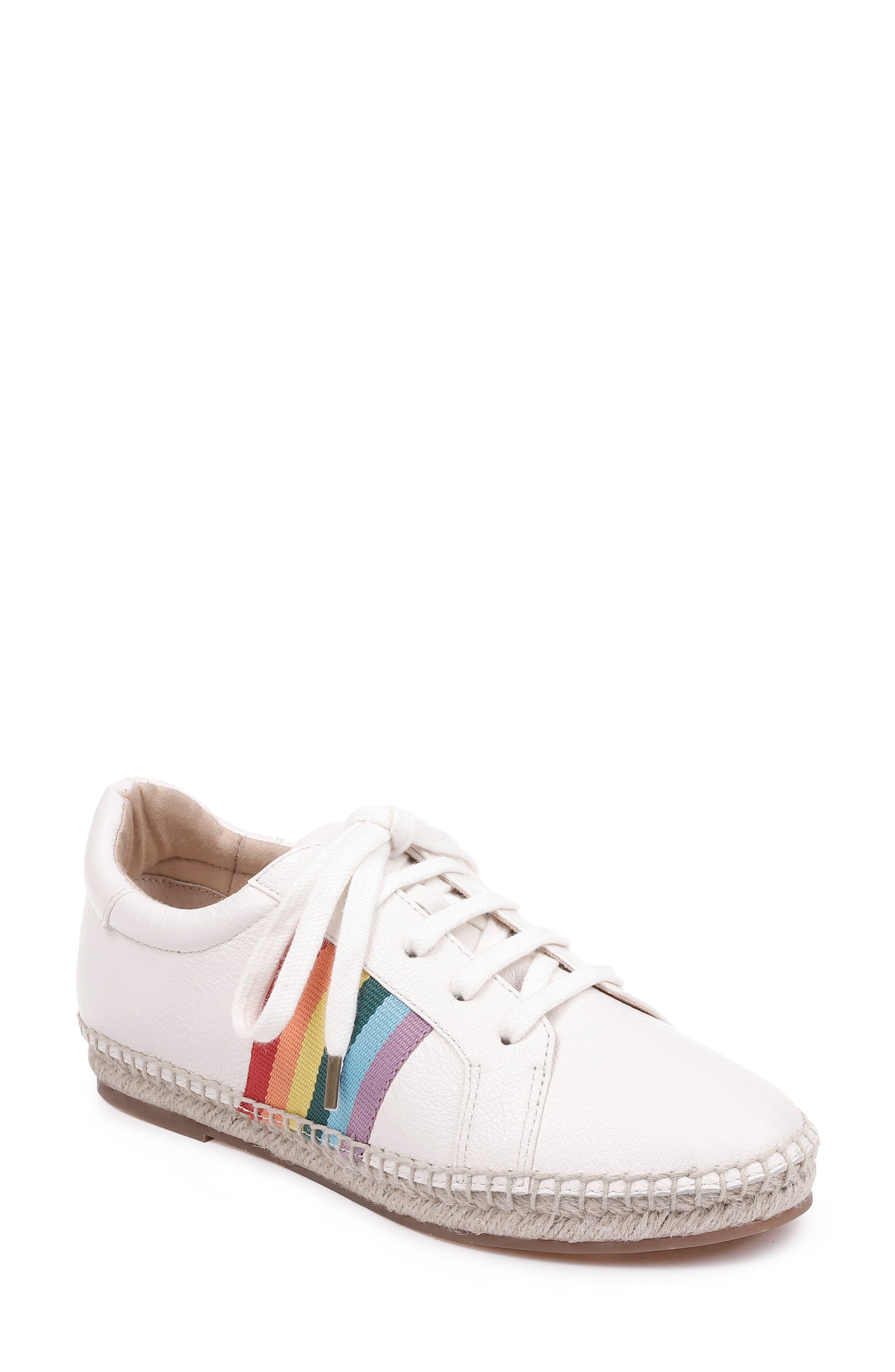 SPLENDID Sada Espadrille Sneaker, Main, color, OFF WHITE LEATHER