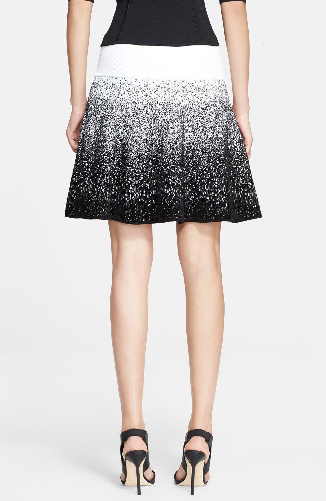 A.L.C., Chenille Flared Skirt, Alternate thumbnail 2, color, 185