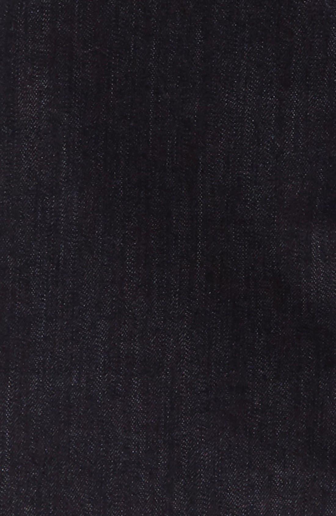 VOLCOM, 'Solver' Straight Leg Denim Jeans, Alternate thumbnail 3, color, BLUE RINSE