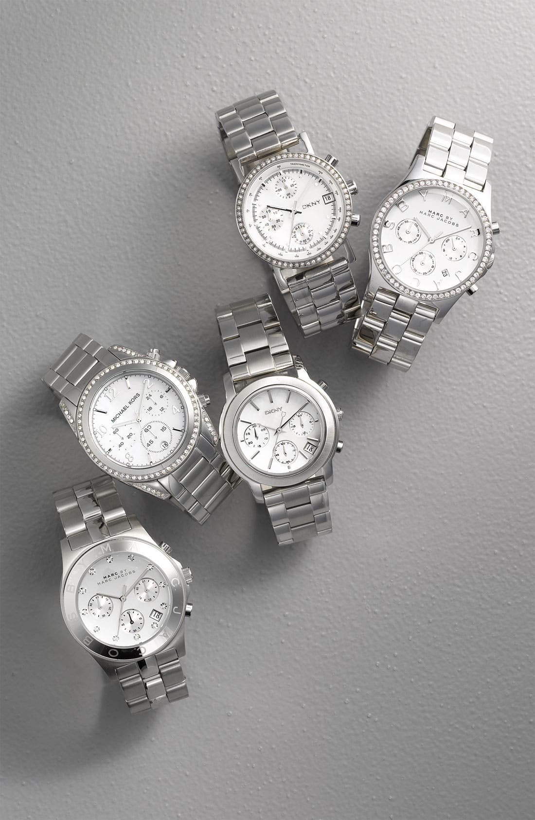 MARC JACOBS, 'Henry' Chronograph & Crystal Topring Watch, 40mm, Alternate thumbnail 3, color, 040