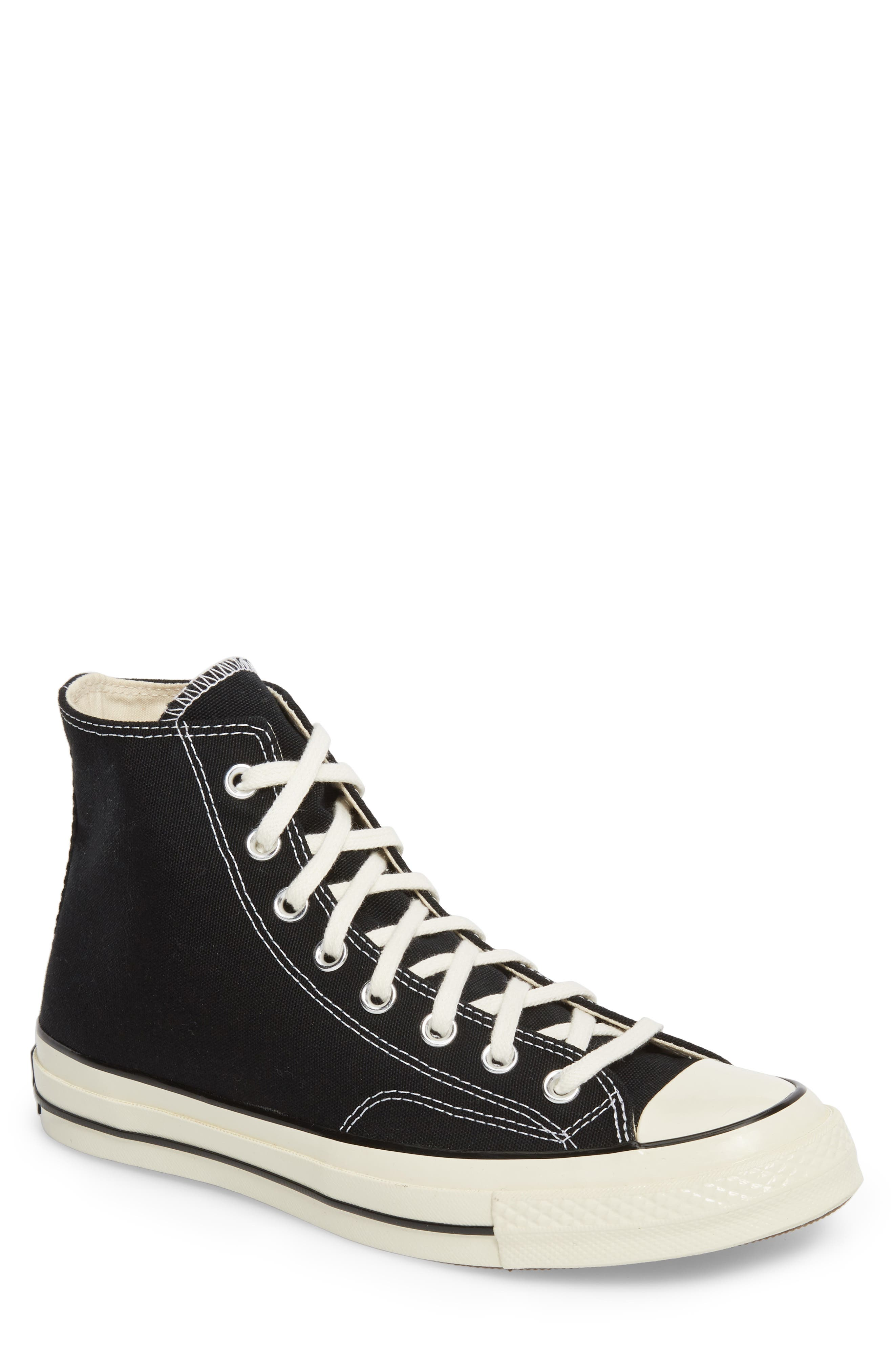 CONVERSE, Chuck Taylor<sup>®</sup> All Star<sup>®</sup> 70 High Top Sneaker, Main thumbnail 1, color, BLACK