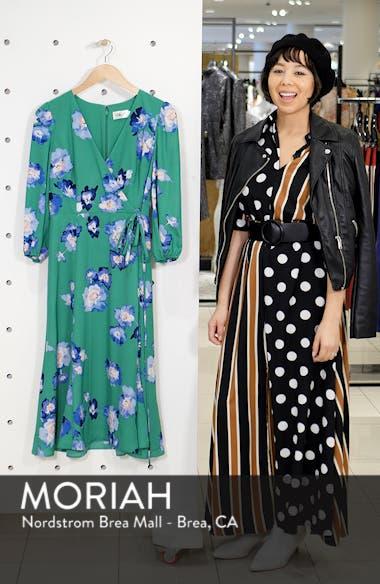 Blouson Sleeve Wrap Midi Dress, sales video thumbnail