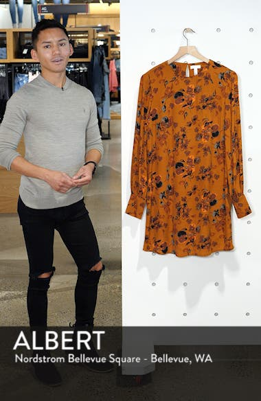 Long Sleeved Shirred Cuff Dress, sales video thumbnail