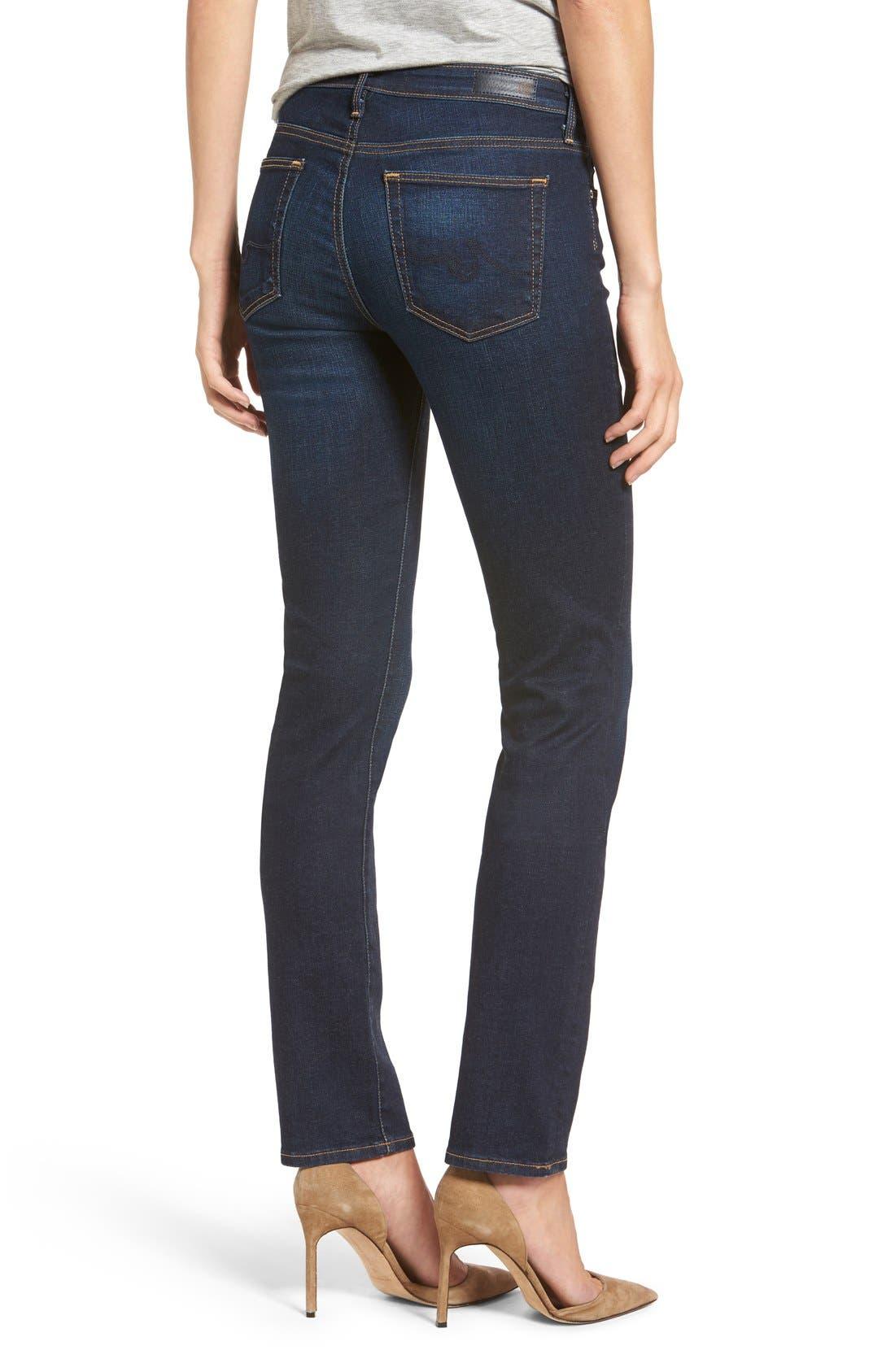 AG, Harper Slim Straight Leg Jeans, Alternate thumbnail 5, color, SMITTEN