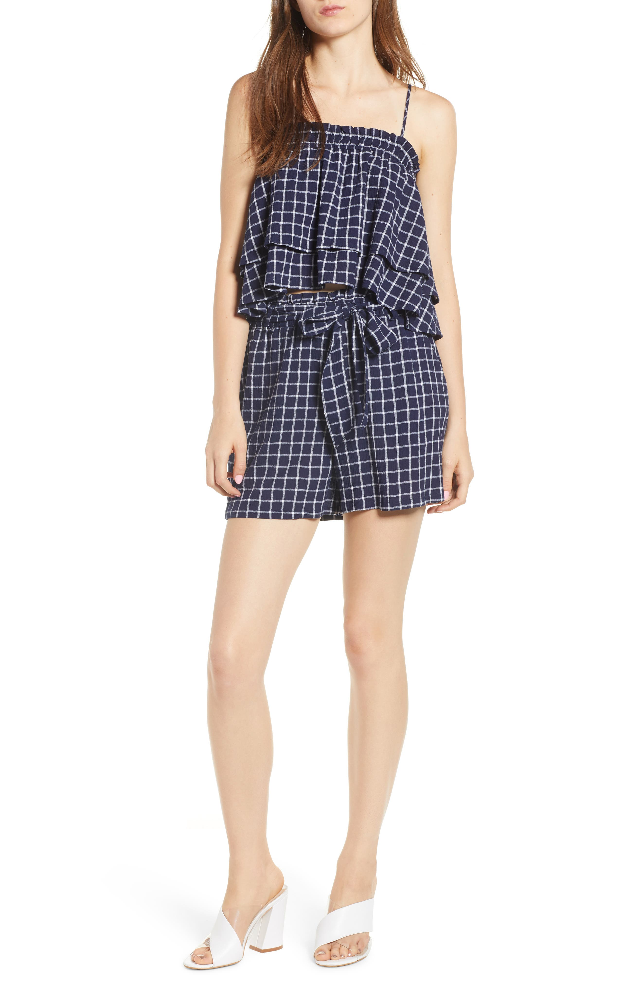 BP., Plaid Tiered Tank, Alternate thumbnail 7, color, 401