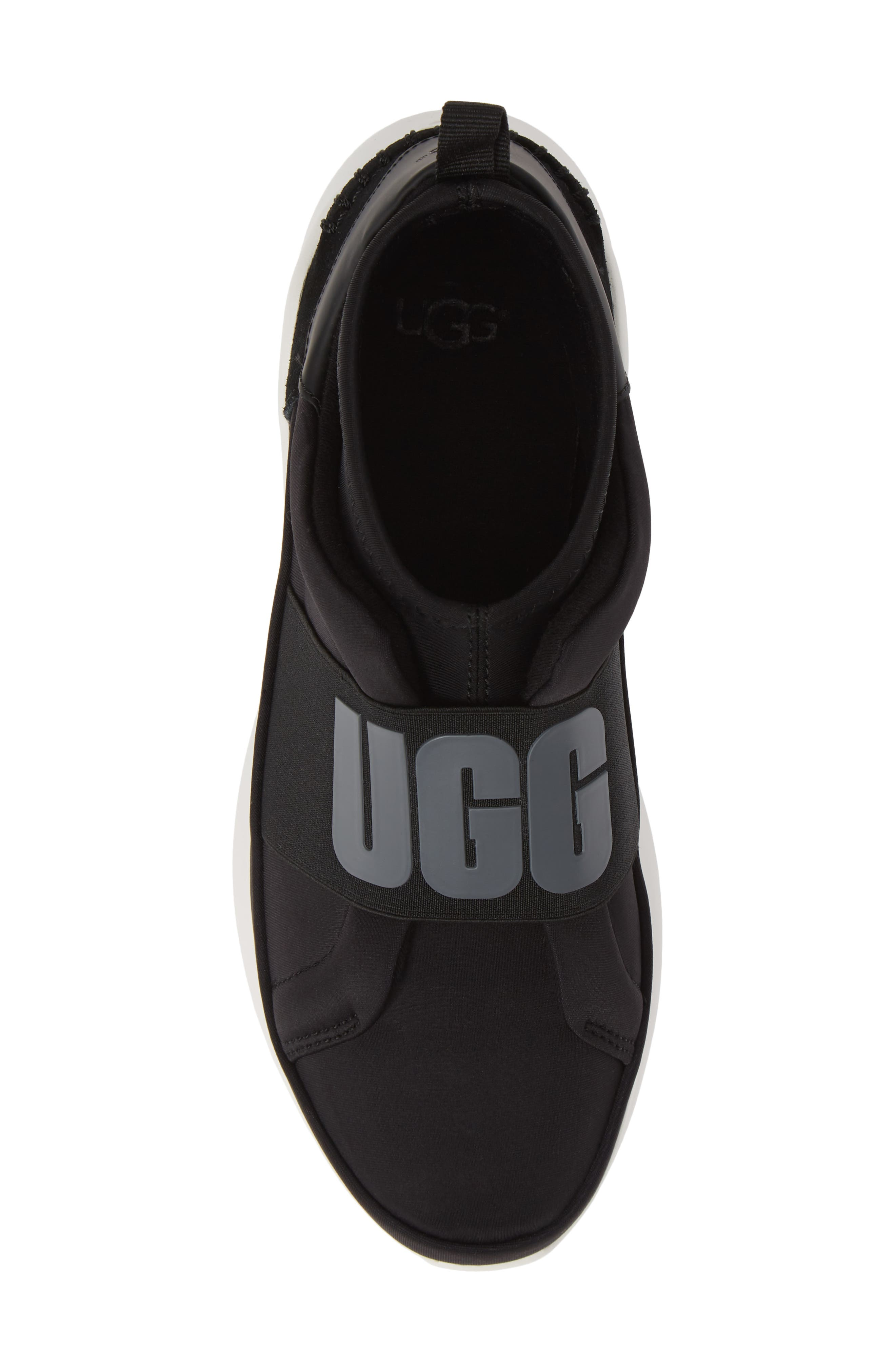 UGG<SUP>®</SUP>, Neutra Sock Sneaker, Alternate thumbnail 5, color, BLACK