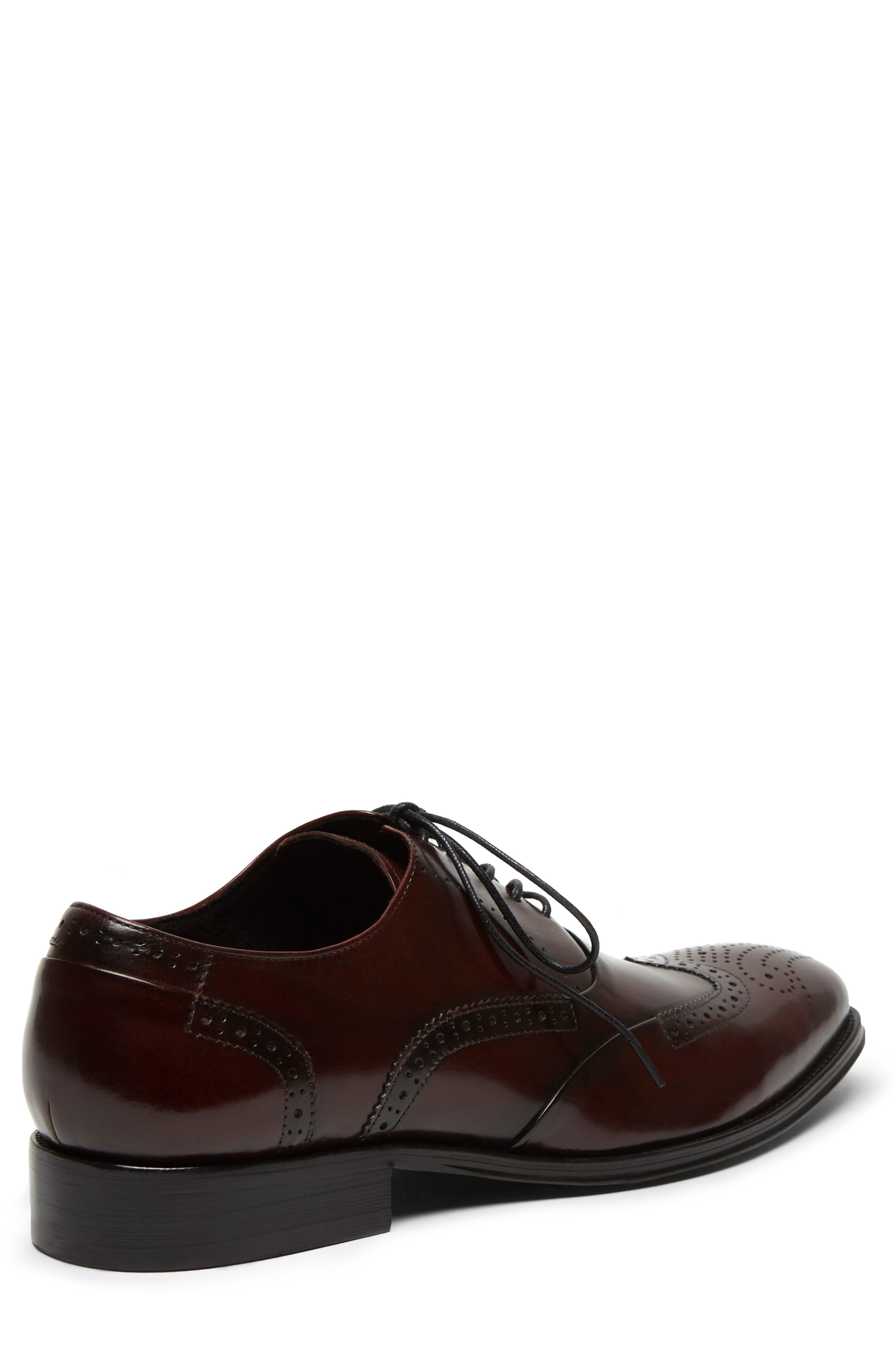 KENNETH COLE NEW YORK, Brant Wingtip, Alternate thumbnail 5, color, BORDEAUX LEATHER