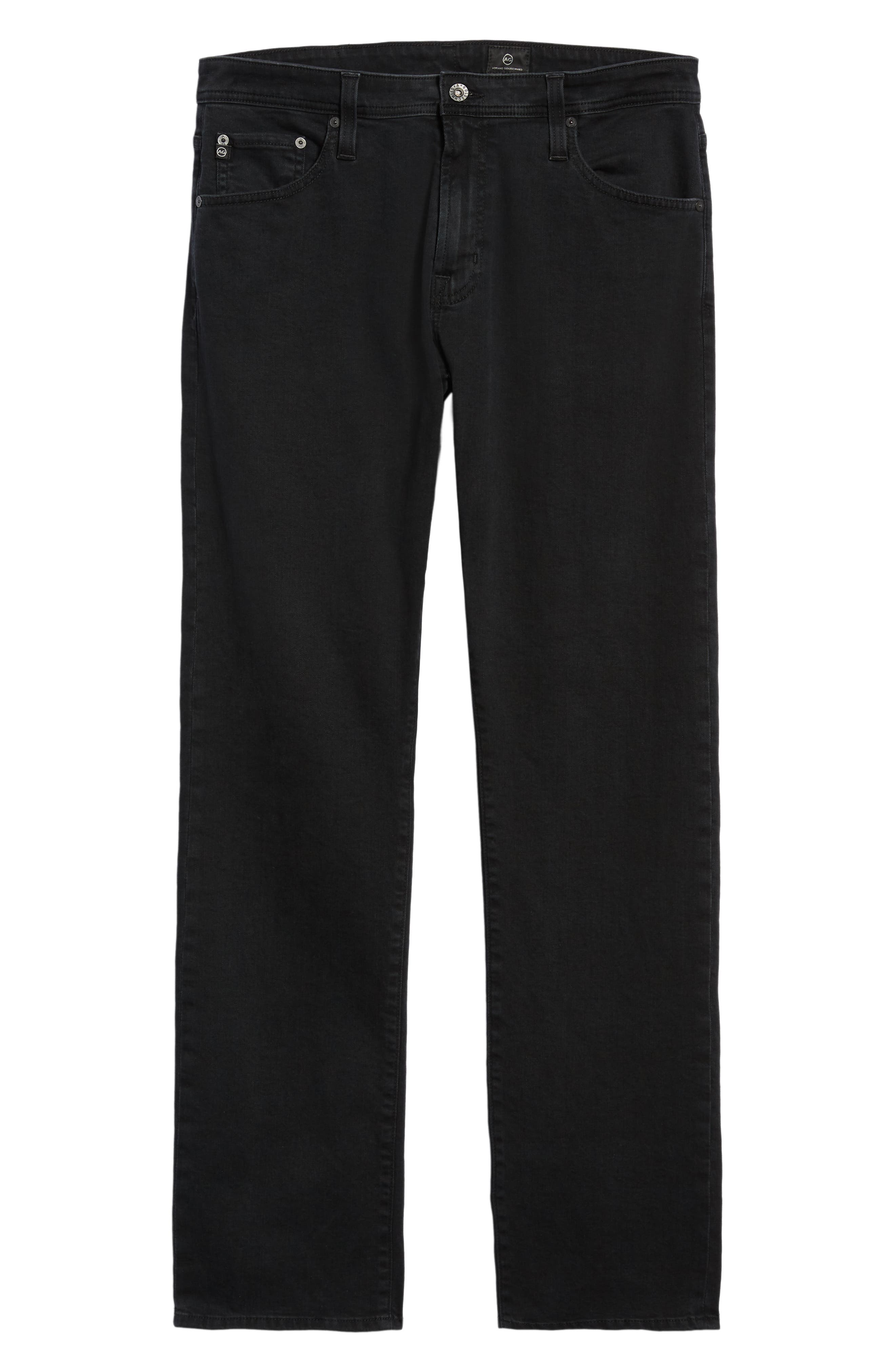 AG, Ives Straight Leg Jeans, Alternate thumbnail 7, color, BRIMSTONE