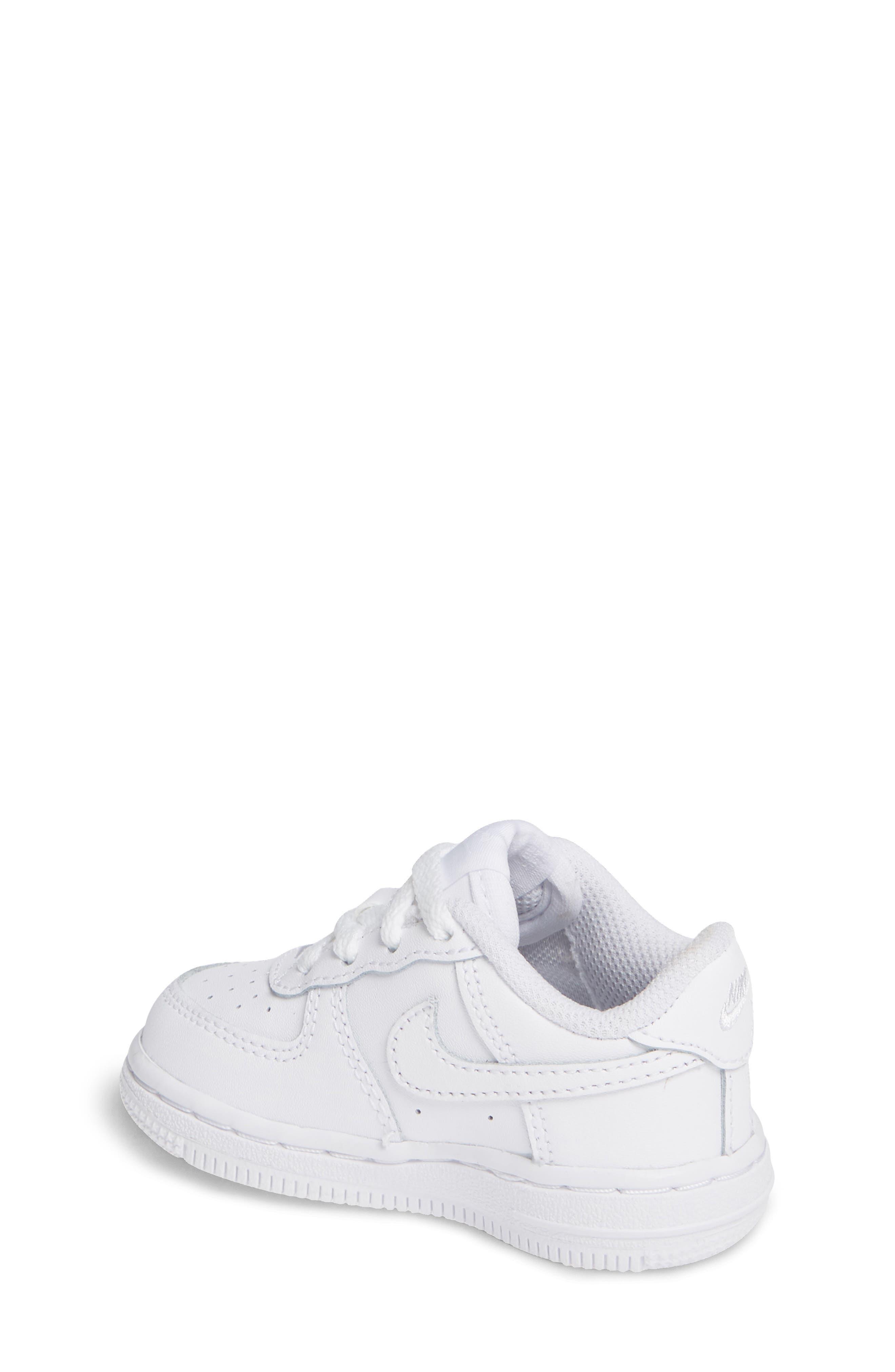 NIKE, Air Force 1 Sneaker, Alternate thumbnail 2, color, WHITE