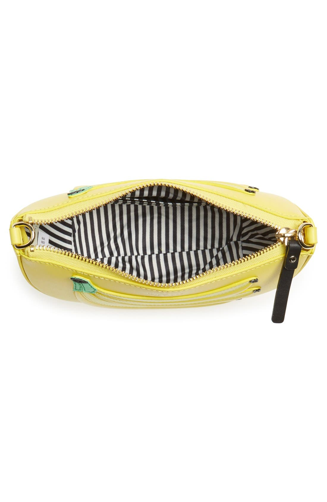 KATE SPADE NEW YORK, 'flights of fancy - bananas' crossbody bag, Alternate thumbnail 4, color, 700