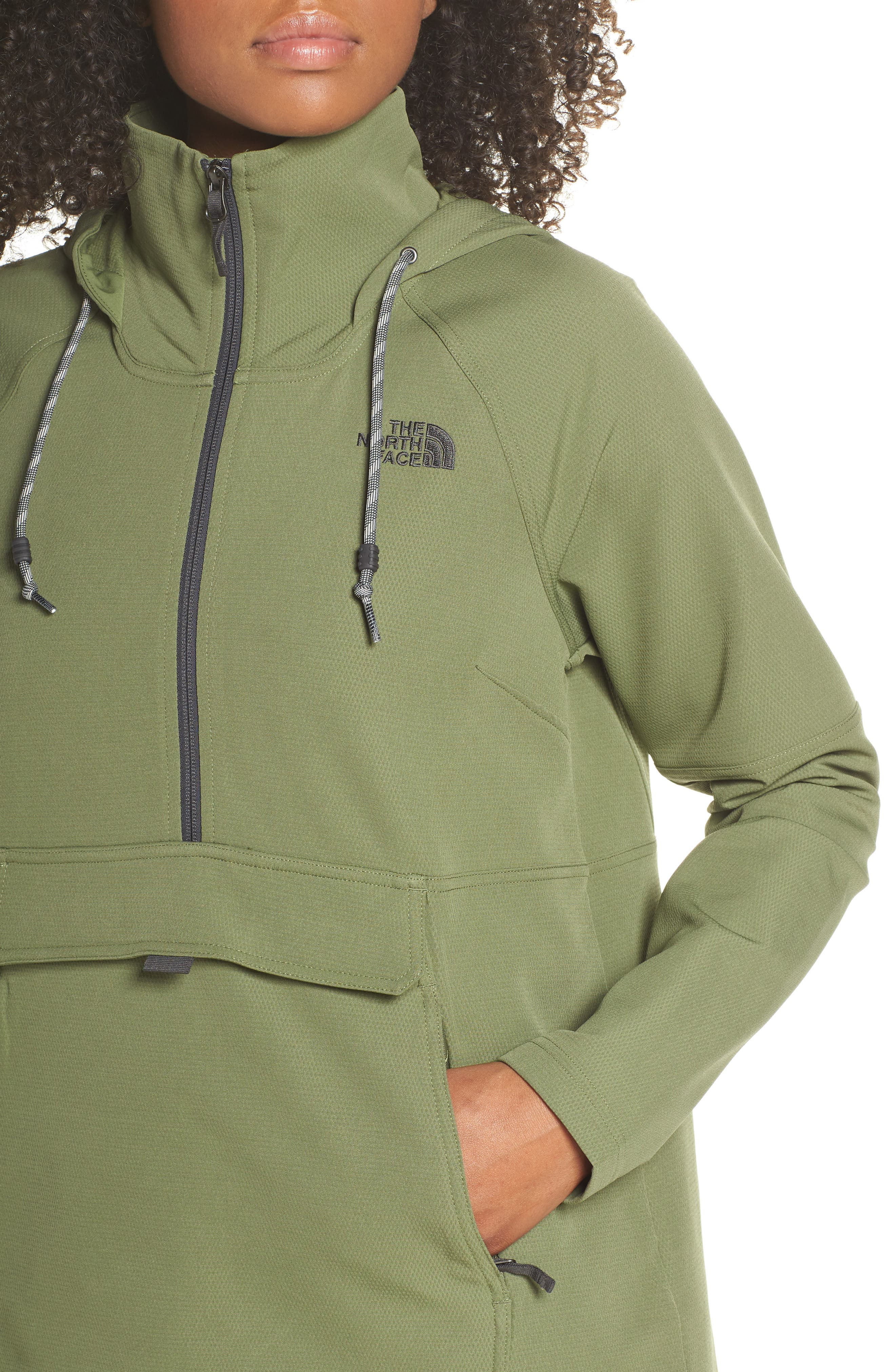 THE NORTH FACE, Tekno Ridge Hoodie, Alternate thumbnail 5, color, FOUR LEAF CLOVER