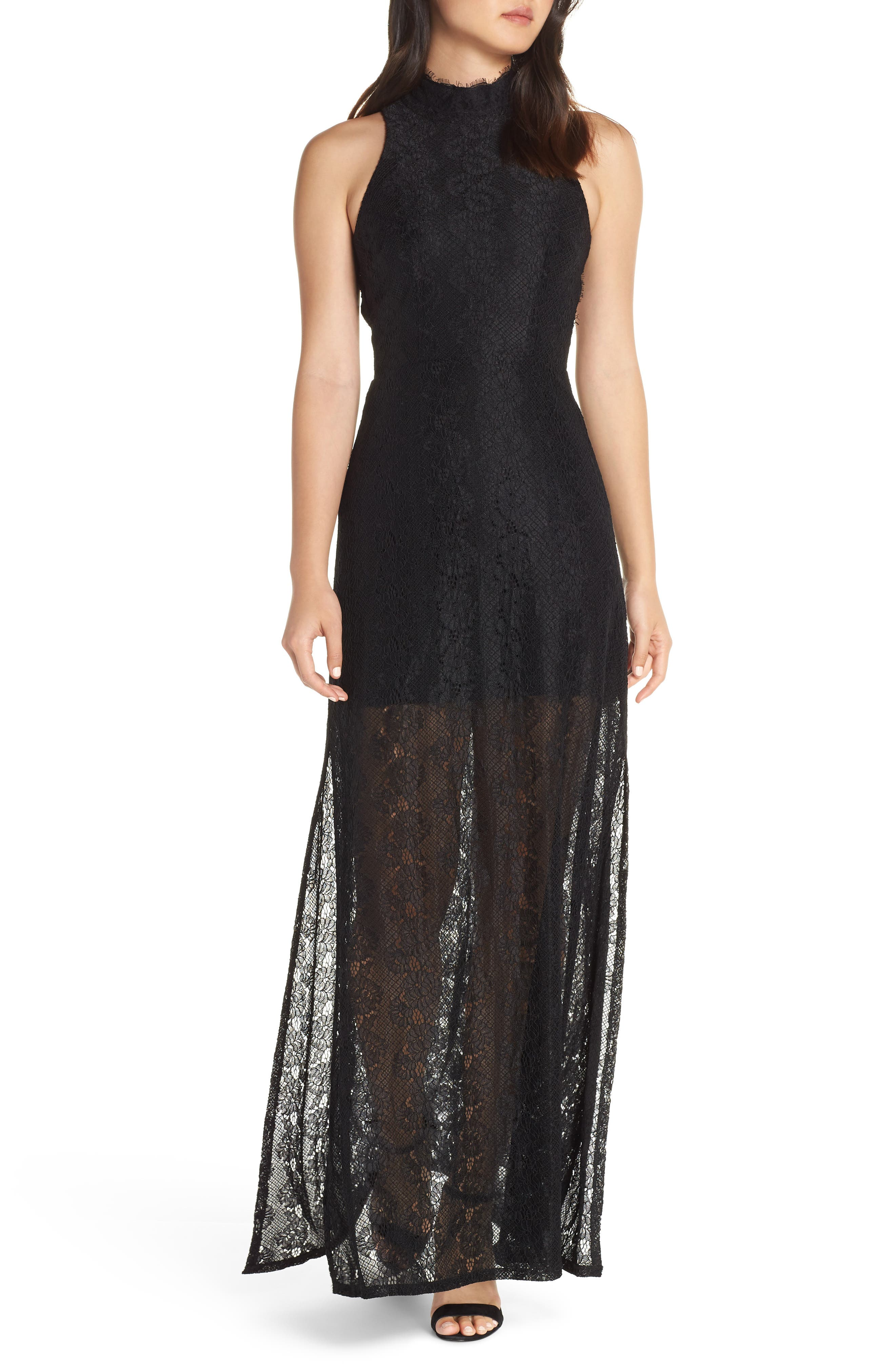 ALI & JAY Return to Love Lace Maxi Dress, Main, color, BLACK