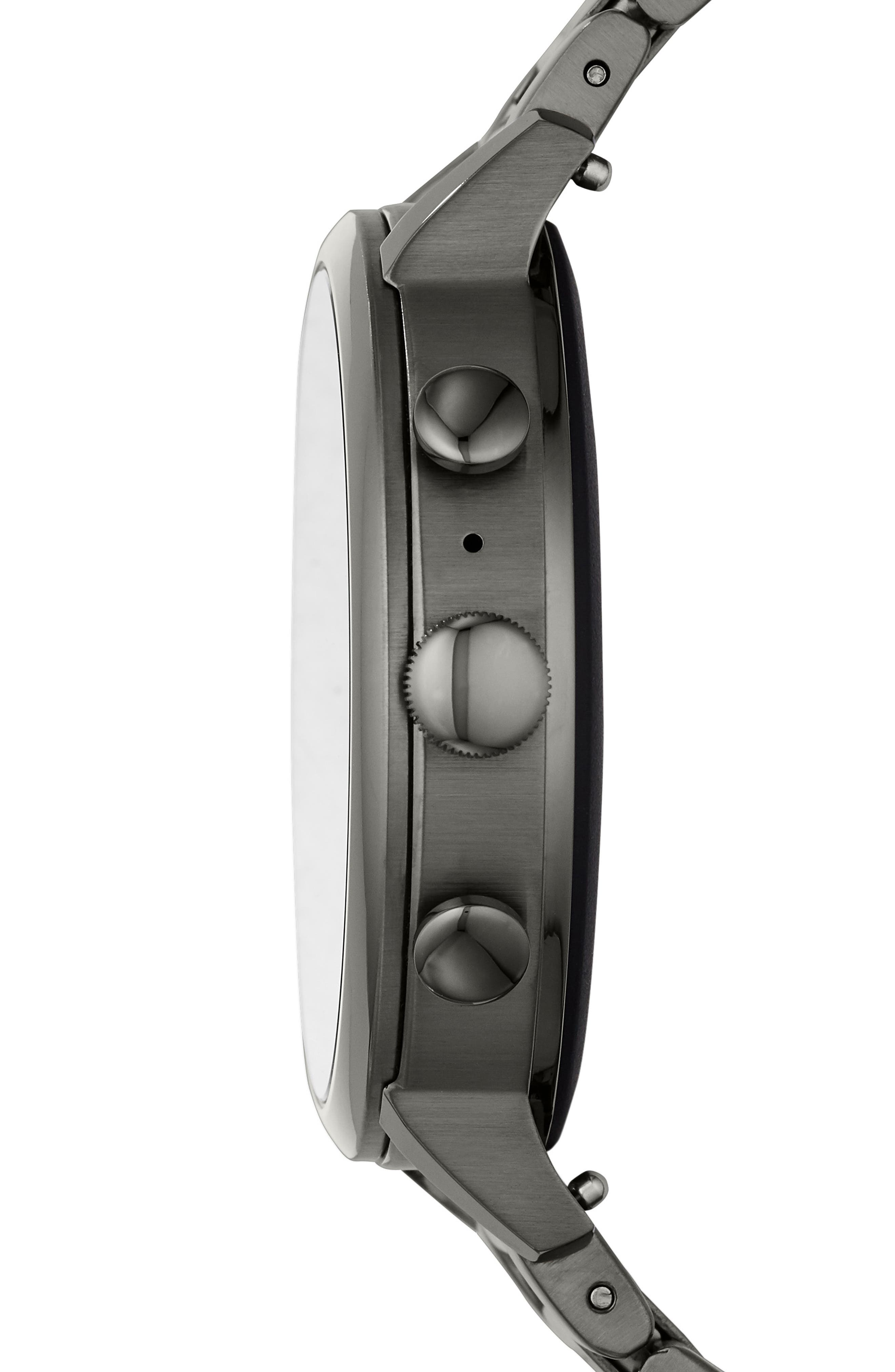 FOSSIL, Q Venture HR Bracelet Watch, 40mm, Alternate thumbnail 3, color, 020