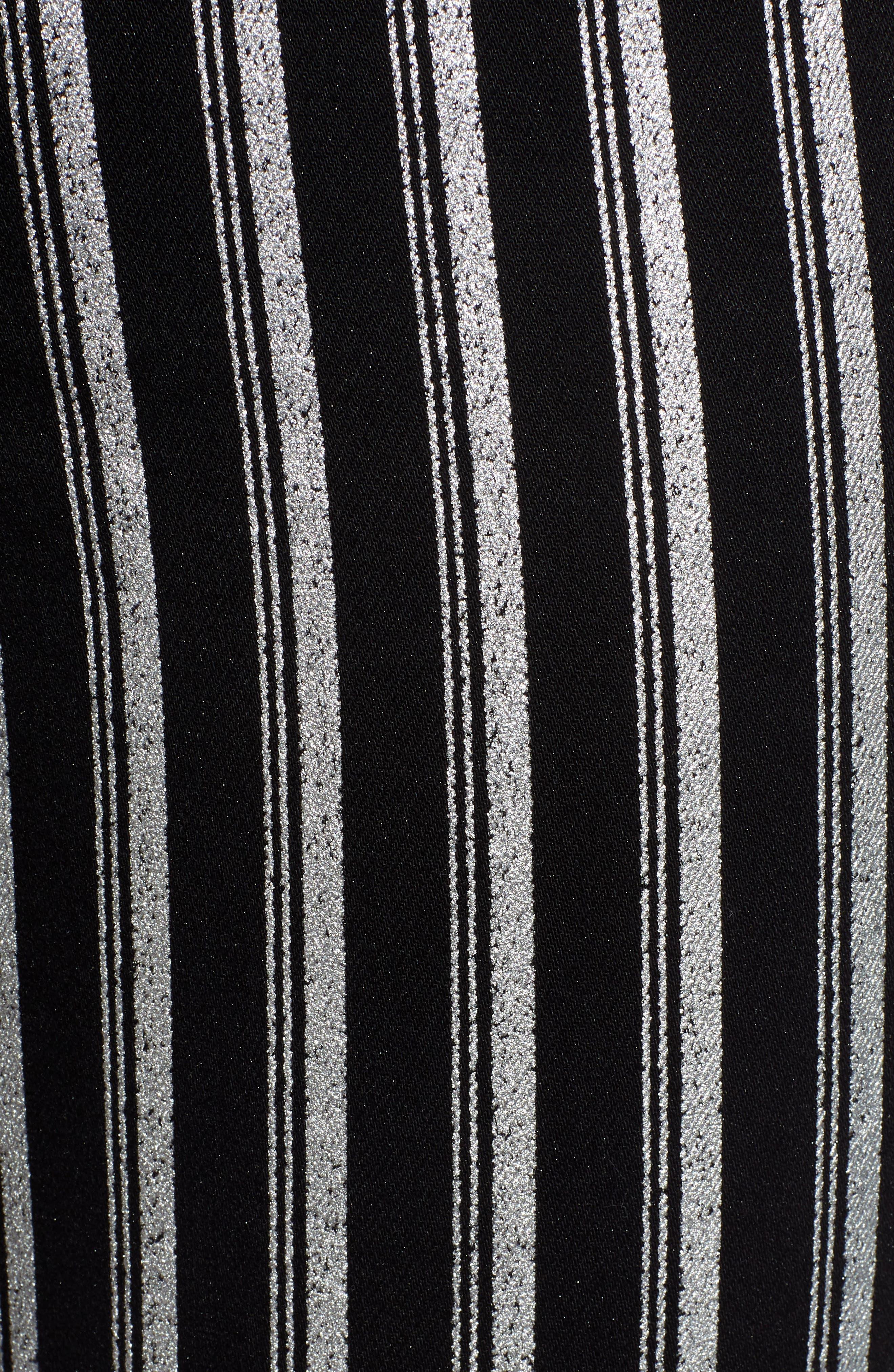 PAIGE, Colette High Waist Crop Flare Jeans, Alternate thumbnail 5, color, SILVER STRIPE
