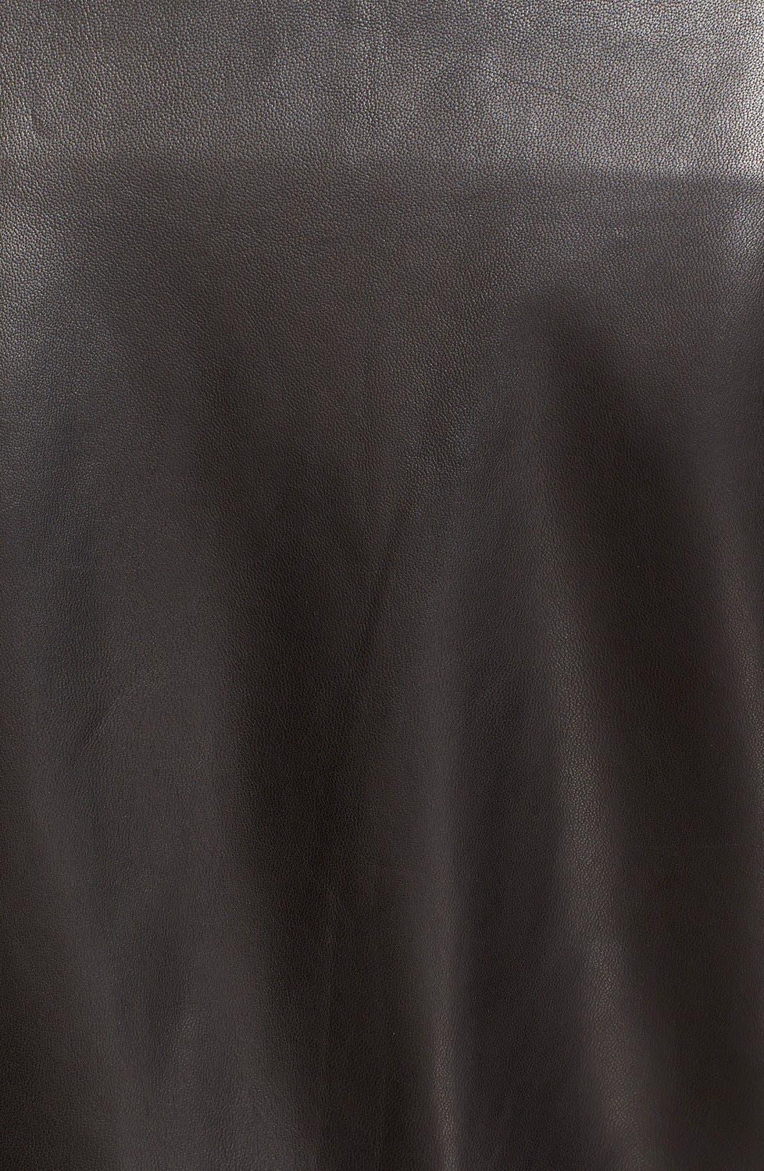 IRO, Lambskin Leather Moto Jacket, Alternate thumbnail 4, color, 001