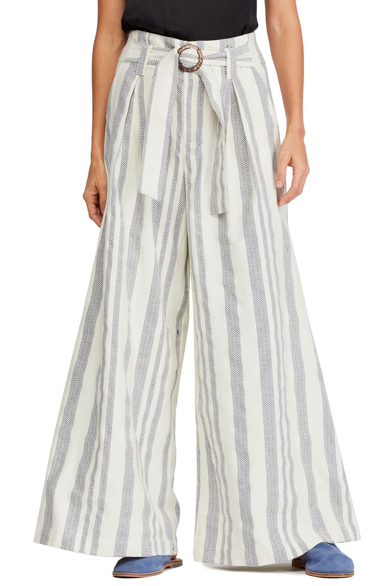 Free People Pants STRIPE WIDE LEG PANTS