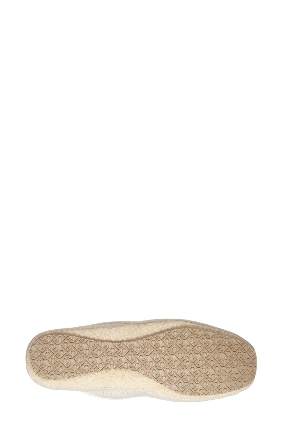 PATRICIA GREEN, 'Queen Bee' Embroidered Slipper, Alternate thumbnail 4, color, NATURAL