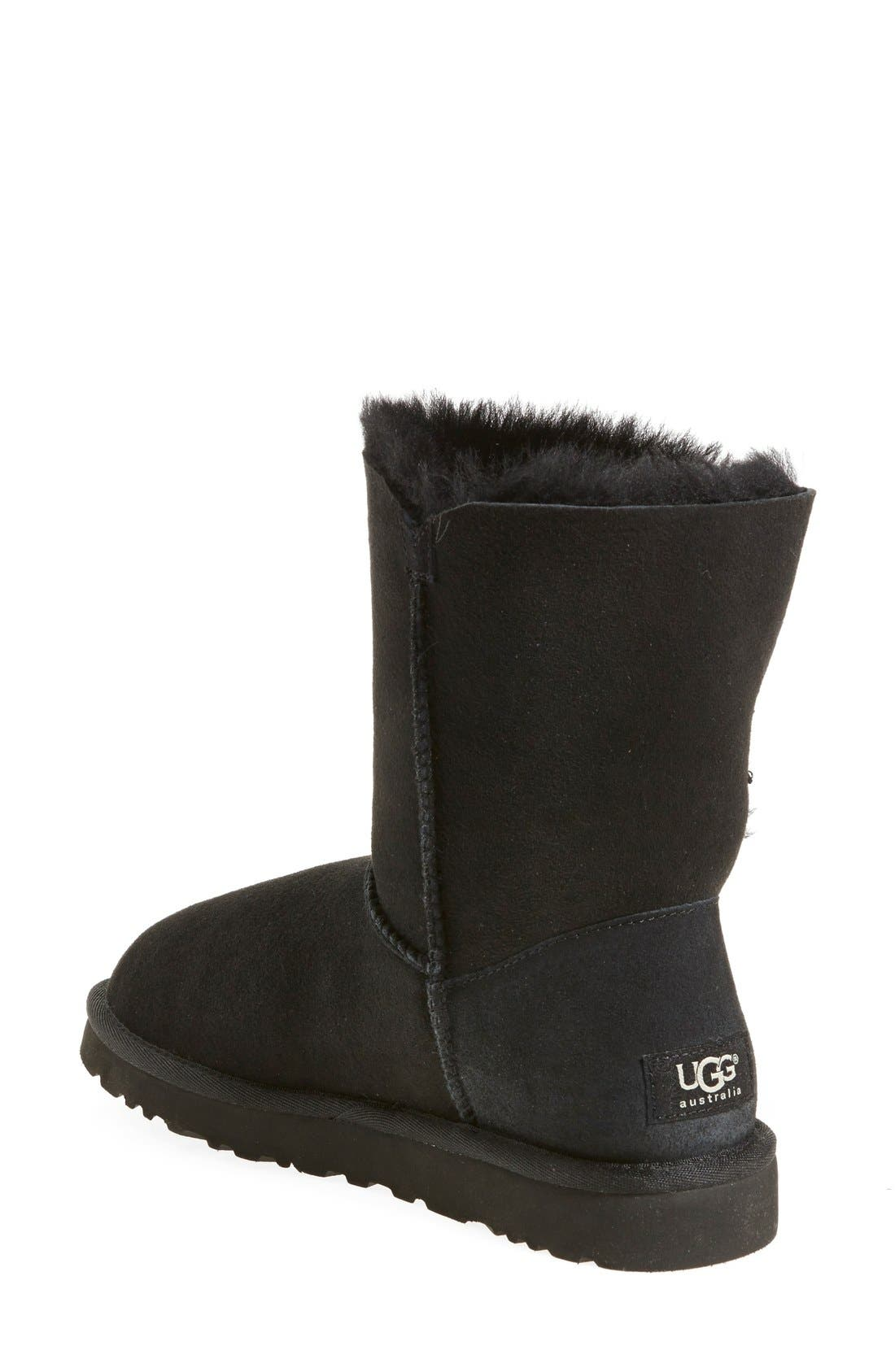UGG<SUP>®</SUP>, 'Bailey Button' Boot, Alternate thumbnail 4, color, 001