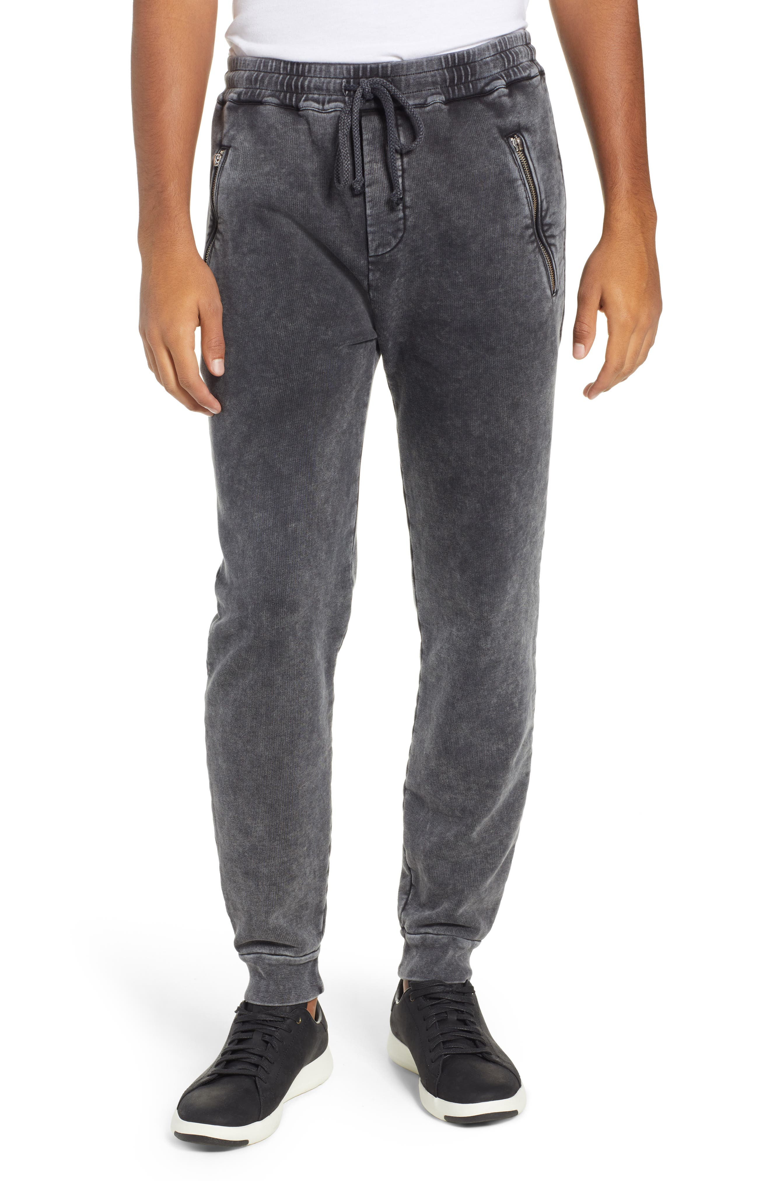 THE KOOPLES, Slim Fit Track Pants, Main thumbnail 1, color, BLACK WASHED
