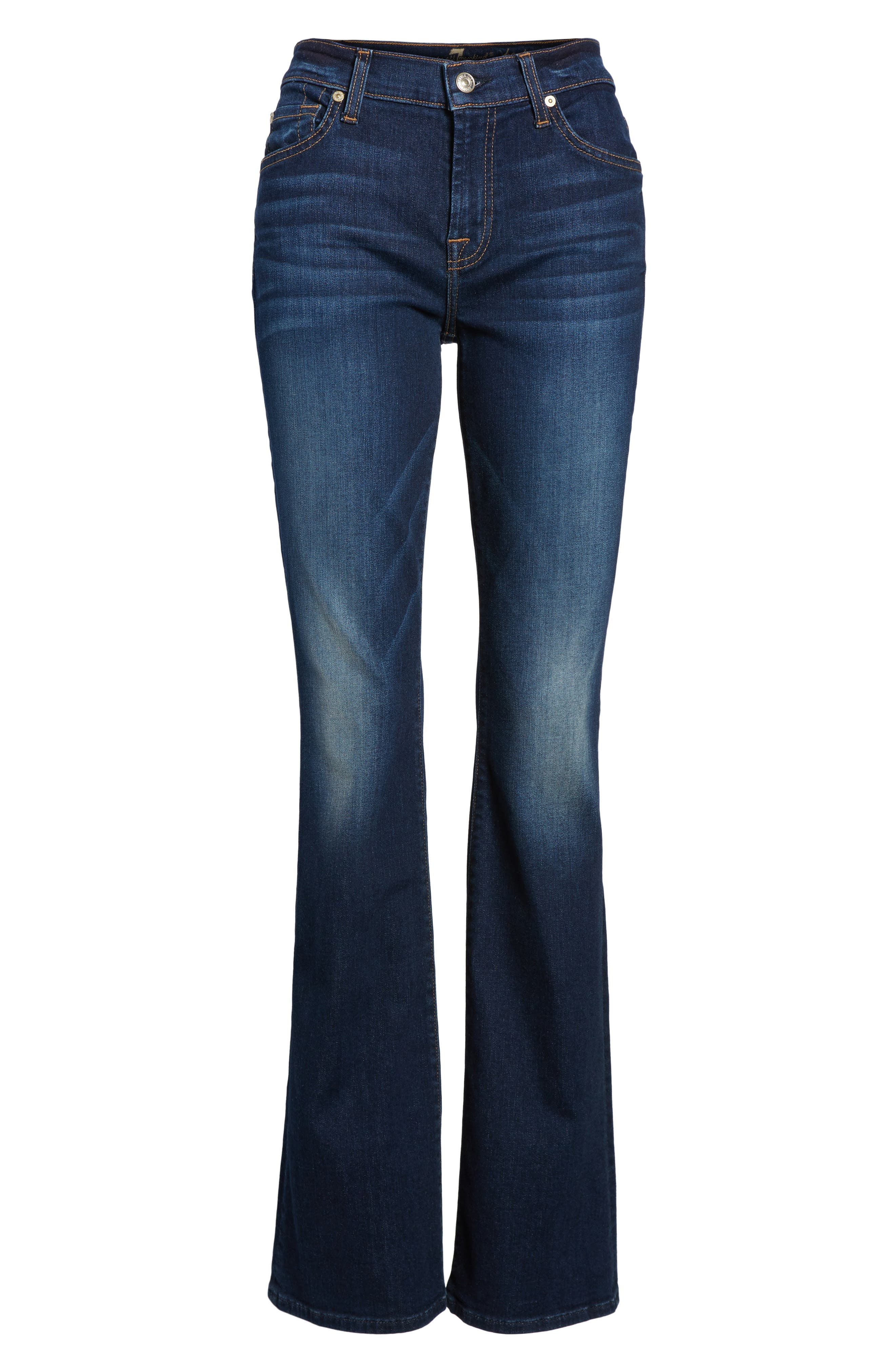 7 FOR ALL MANKIND<SUP>®</SUP>, b(air) Tailorless Iconic Bootcut Jeans, Alternate thumbnail 7, color, MORENO