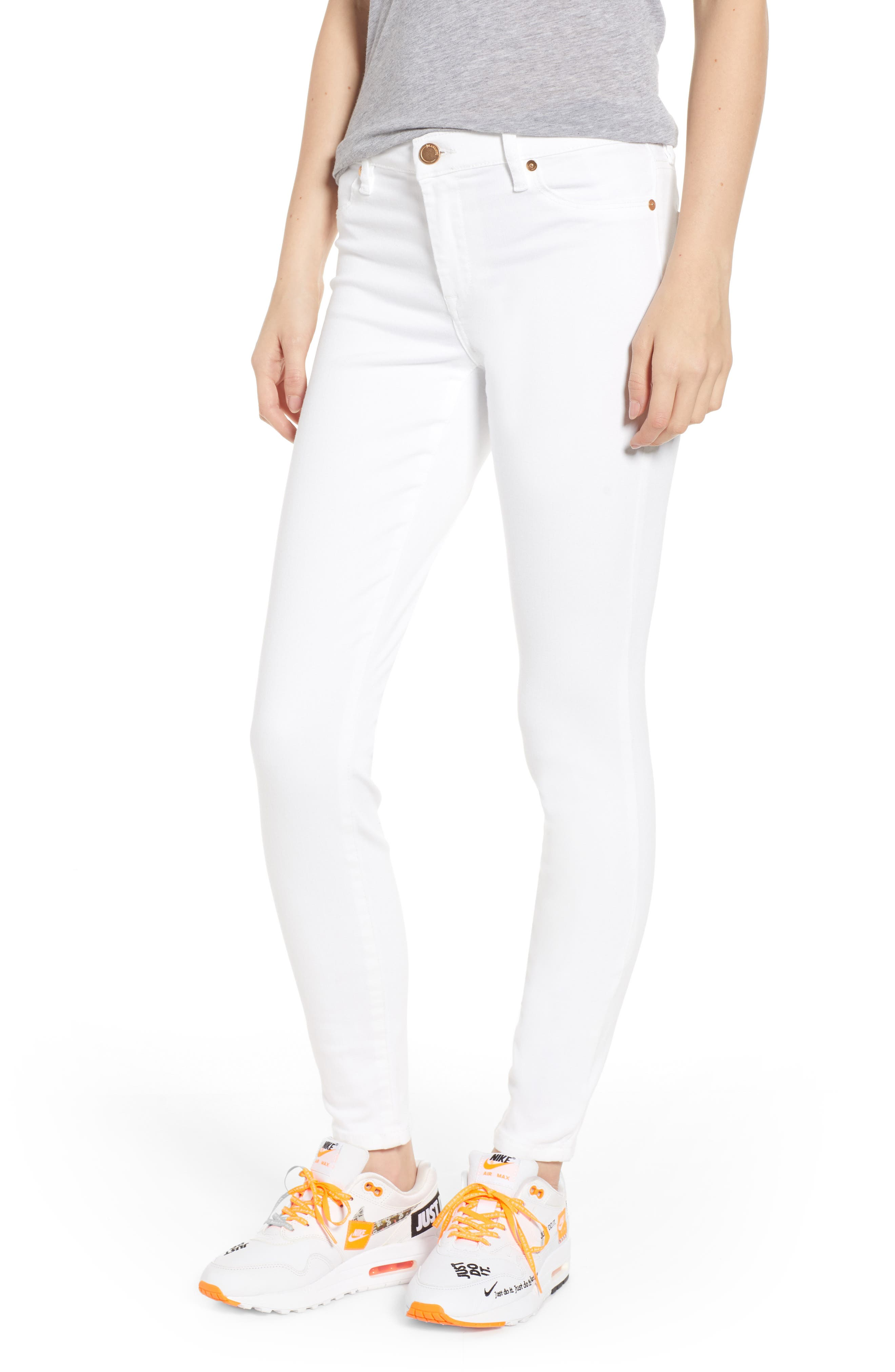 BLANKNYC Skinny Jeans, Main, color, GREAT WHITE
