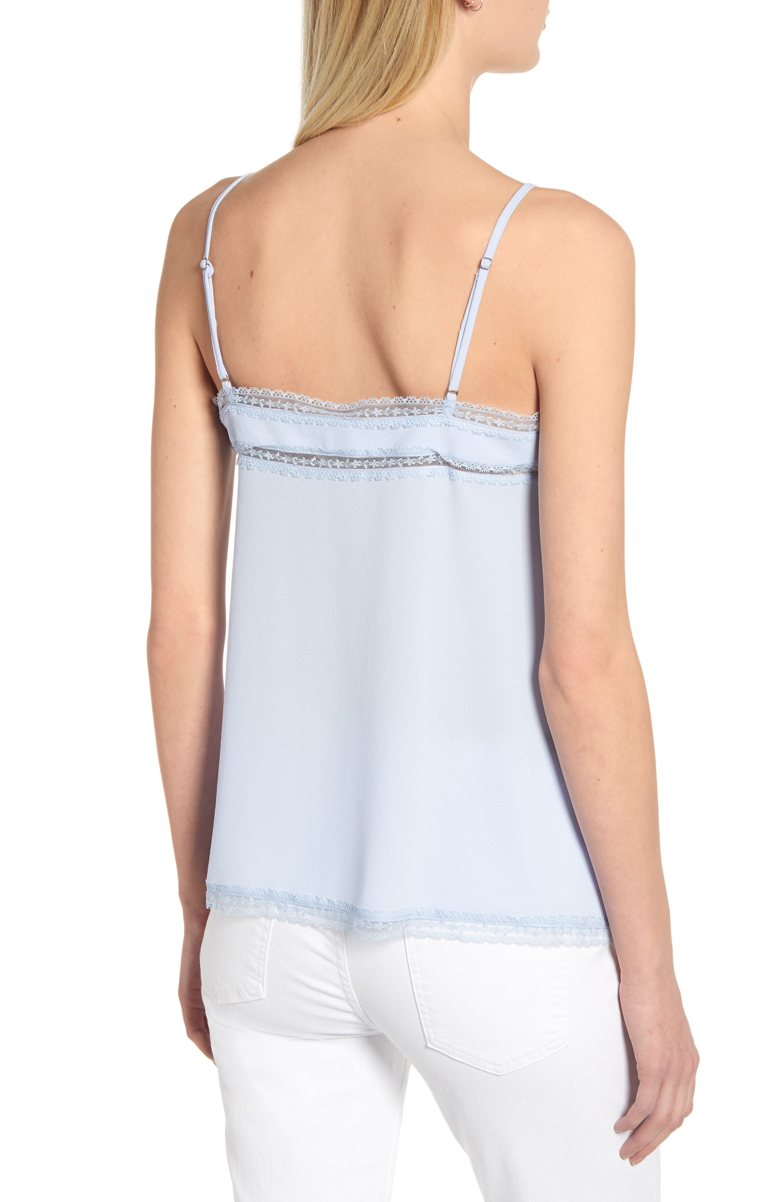 1.STATE, Lace Trim Pintuck Camisole, Alternate thumbnail 2, color, OPAL WATERS