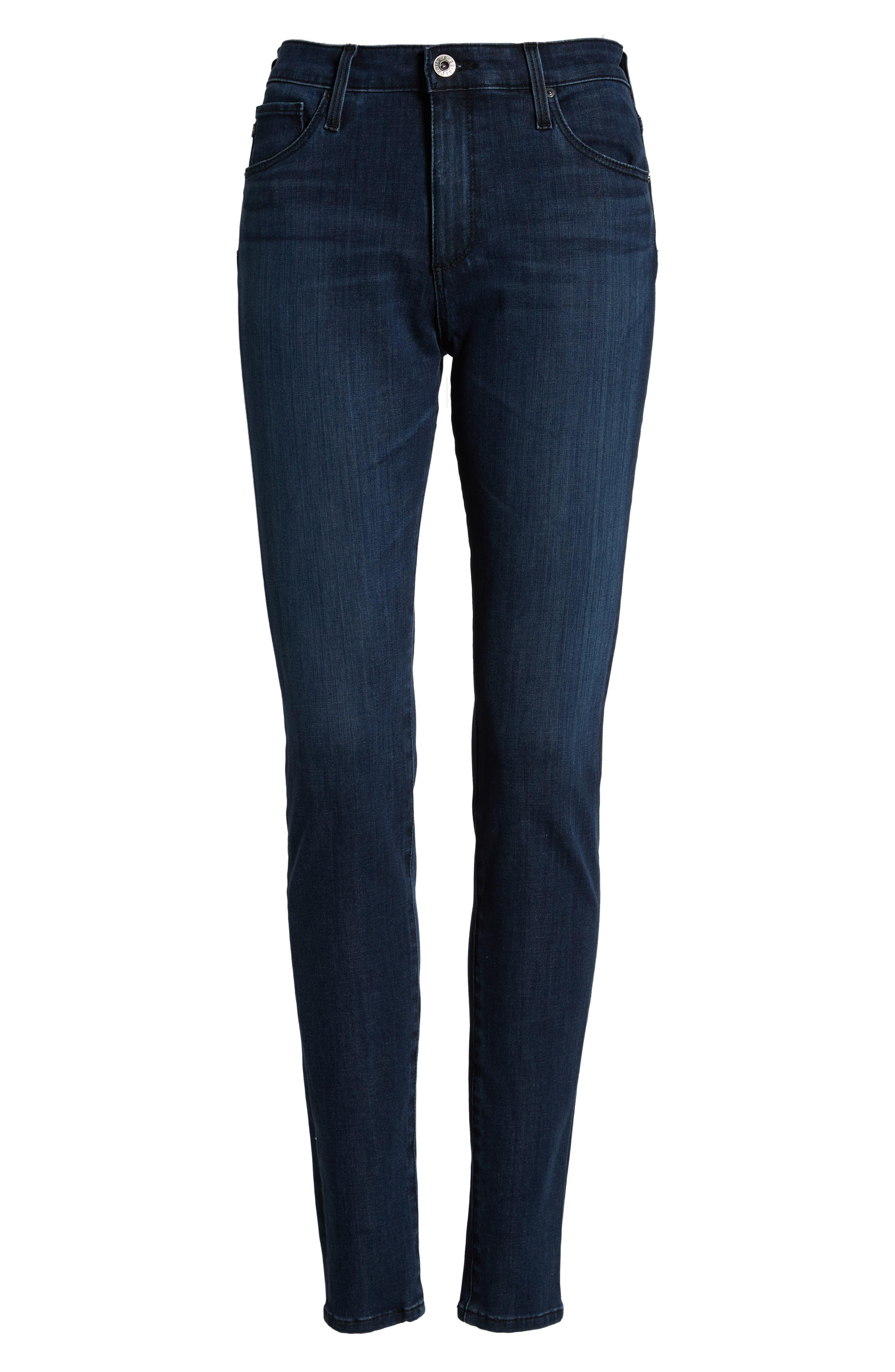 AG, The Farrah High Waist Skinny Jeans, Alternate thumbnail 7, color, 430