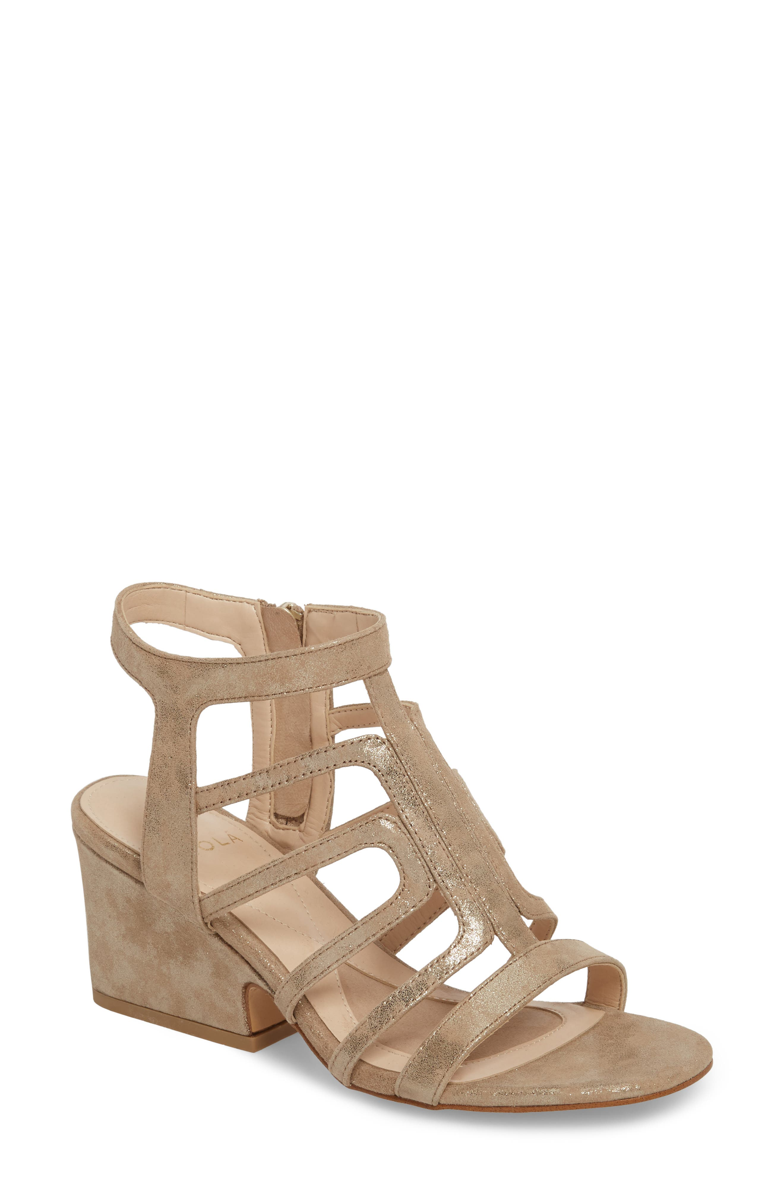 ISOLÁ, Lina Sandal, Main thumbnail 1, color, ANTHRACITE SUEDE