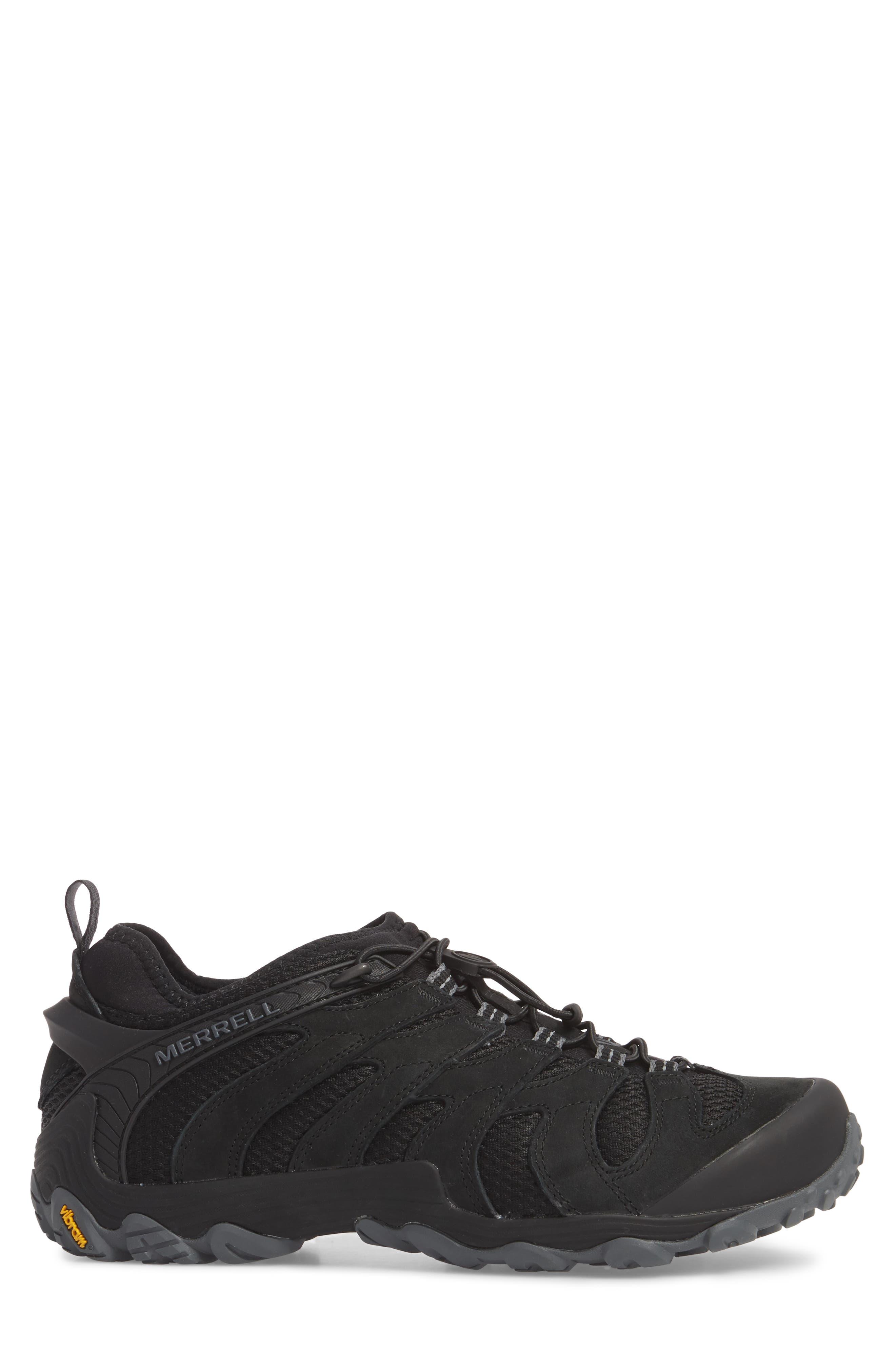 MERRELL, Chameleon 7 Stretch Hiking Shoe, Alternate thumbnail 3, color, BLACK