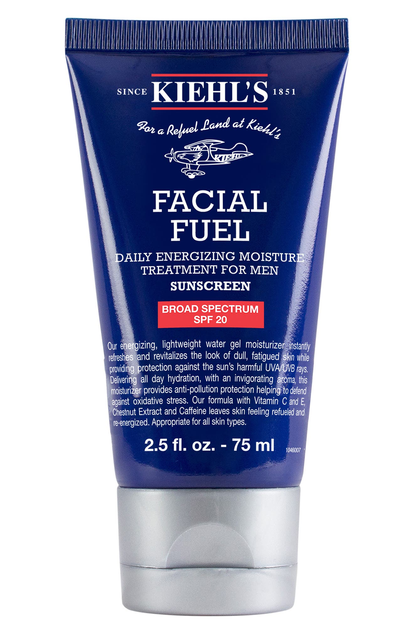 KIEHL'S SINCE 1851, Facial Fuel Daily Energizing Moisture Treatment for Men SPF 20, Main thumbnail 1, color, NO COLOR