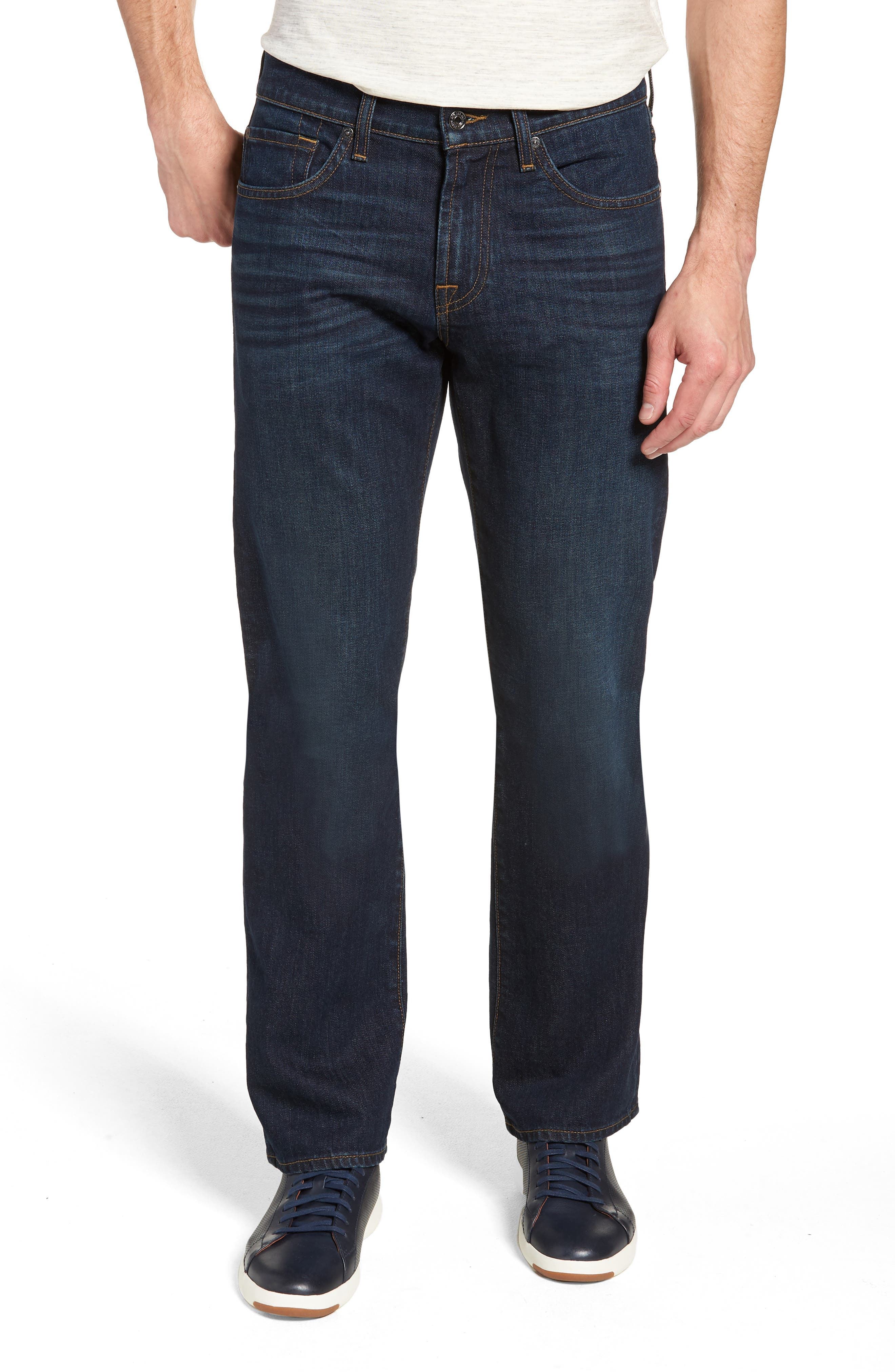 7 FOR ALL MANKIND<SUP>®</SUP> Austyn Relaxed Straight Leg Jeans, Main, color, ABERDEEN