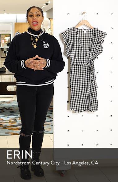 Gingham Ruffle Wrap Dress, sales video thumbnail