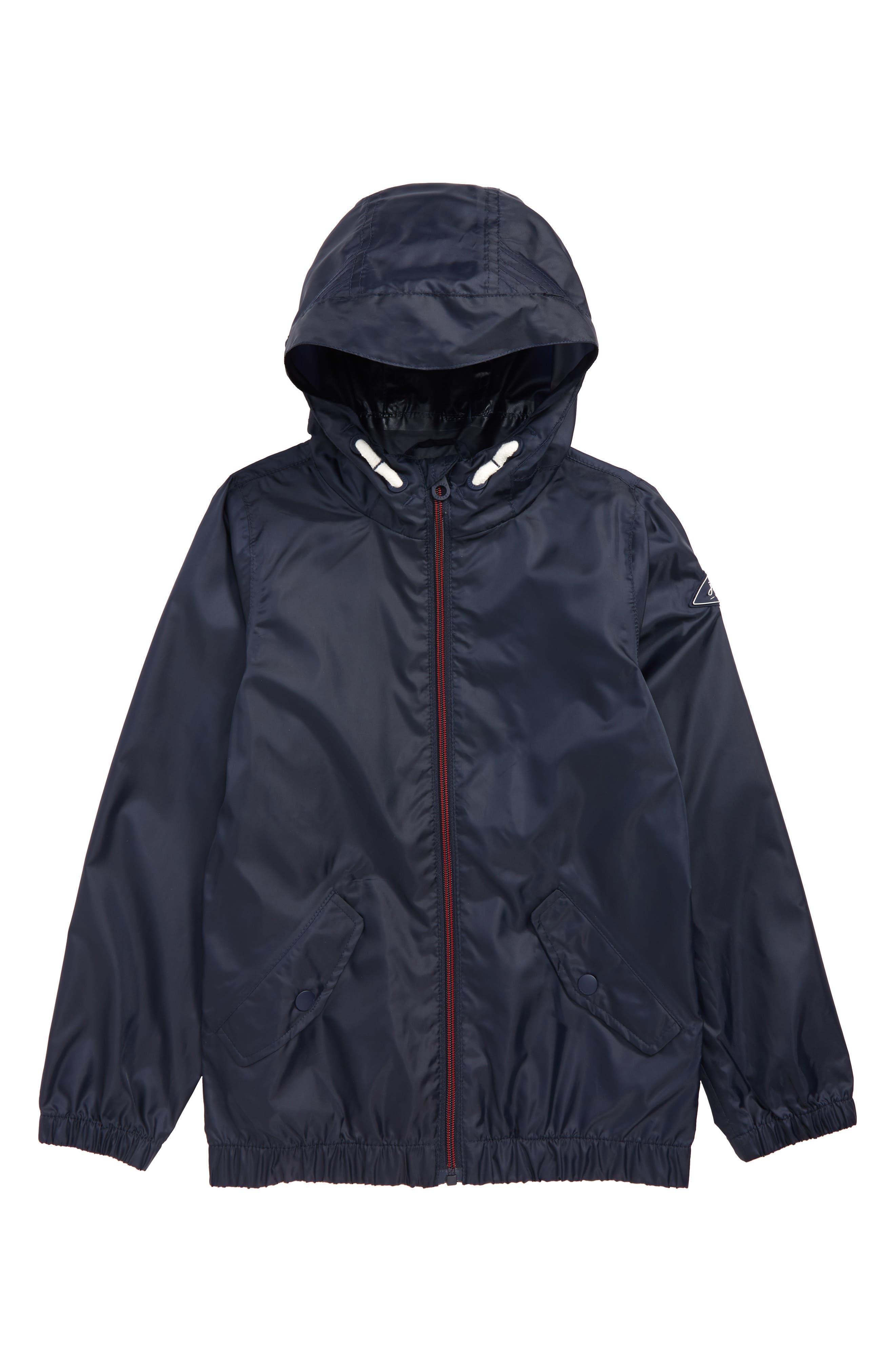JOULES Rowan Lightweight Packable Jacket, Main, color, NAVY