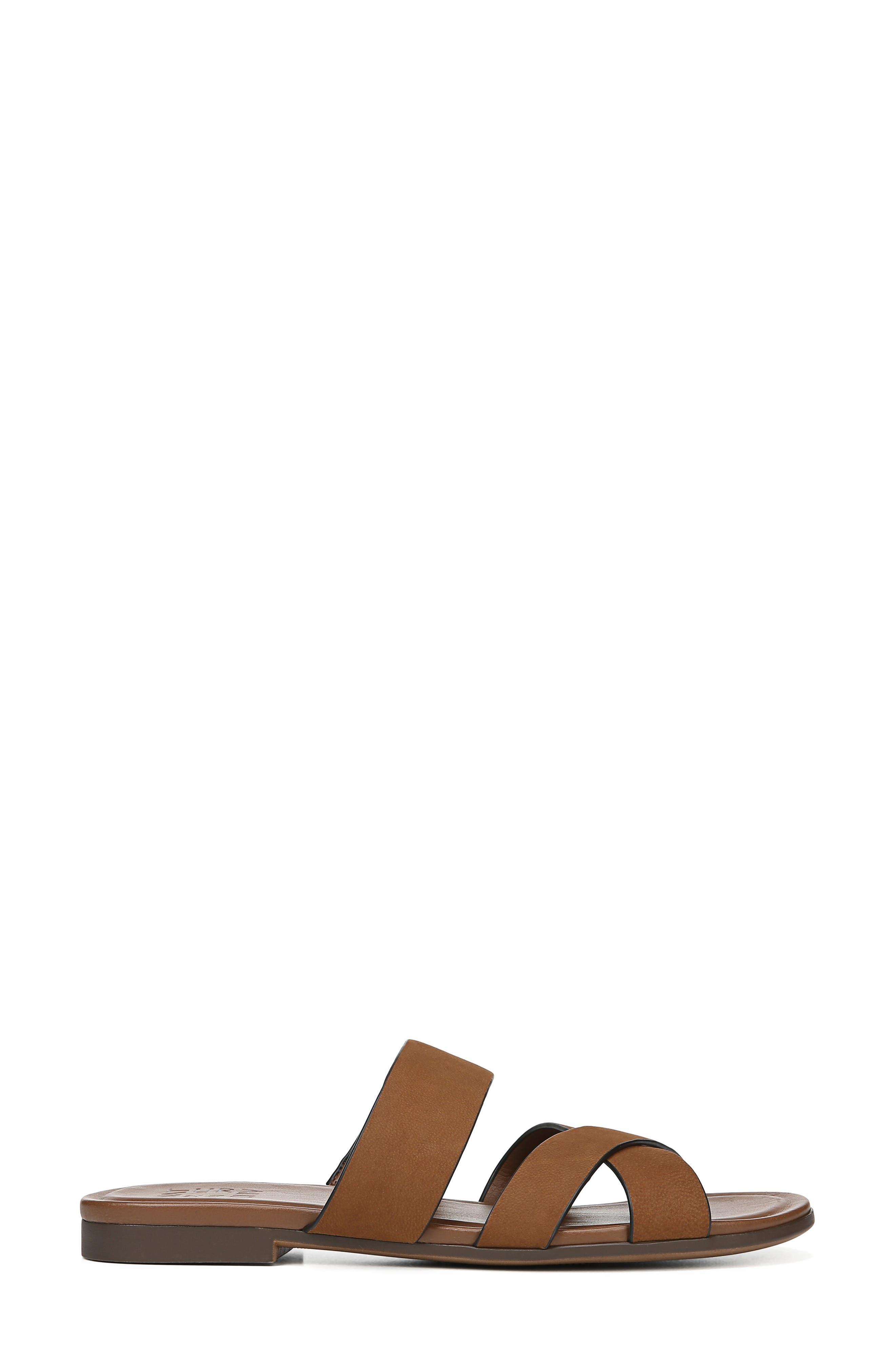 NATURALIZER, Treasure Slide Sandal, Alternate thumbnail 3, color, WHISKEY NUBUCK