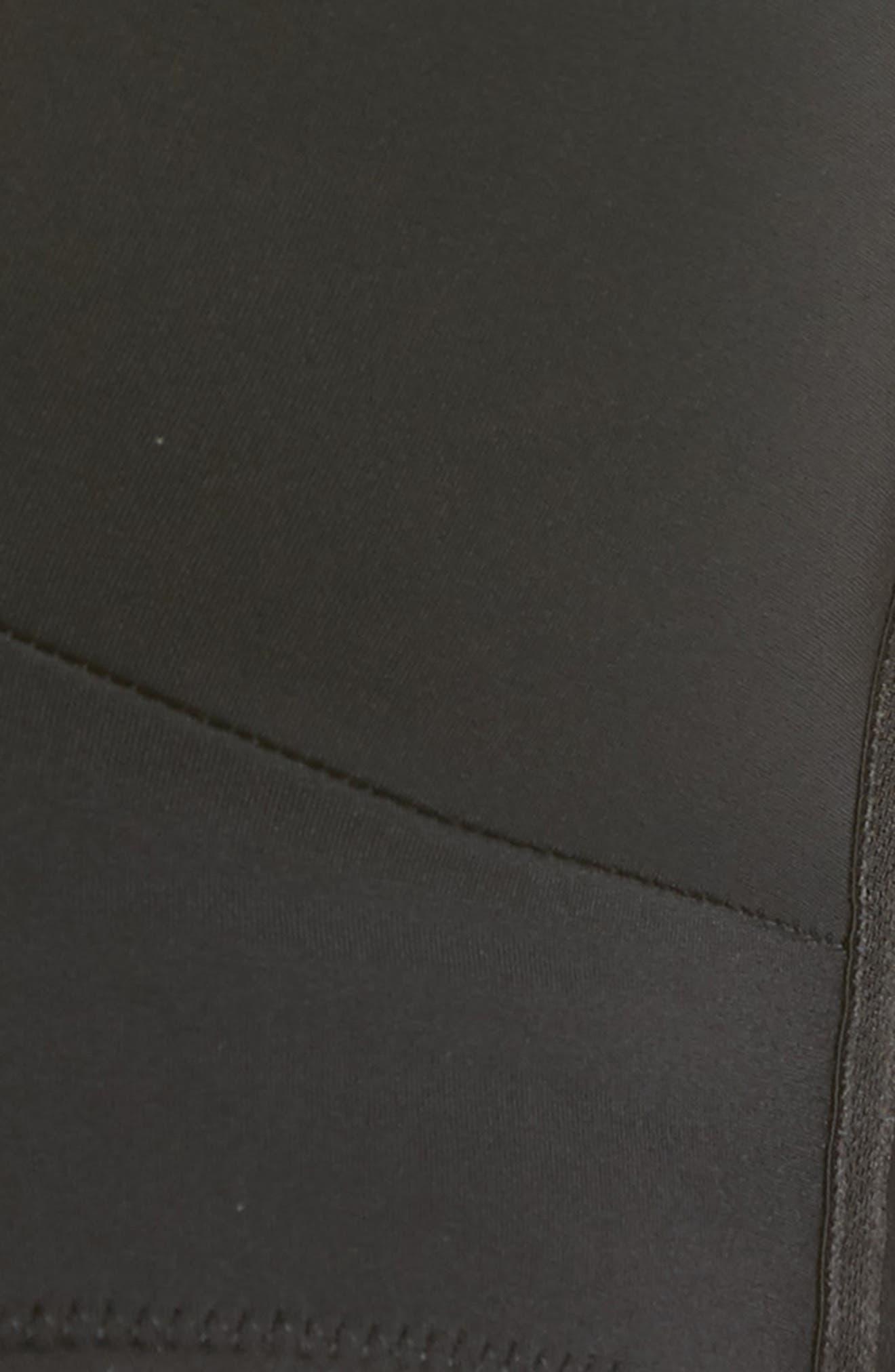 NORDSTROM LINGERIE, Convertible Plunge Bra, Alternate thumbnail 8, color, BLACK