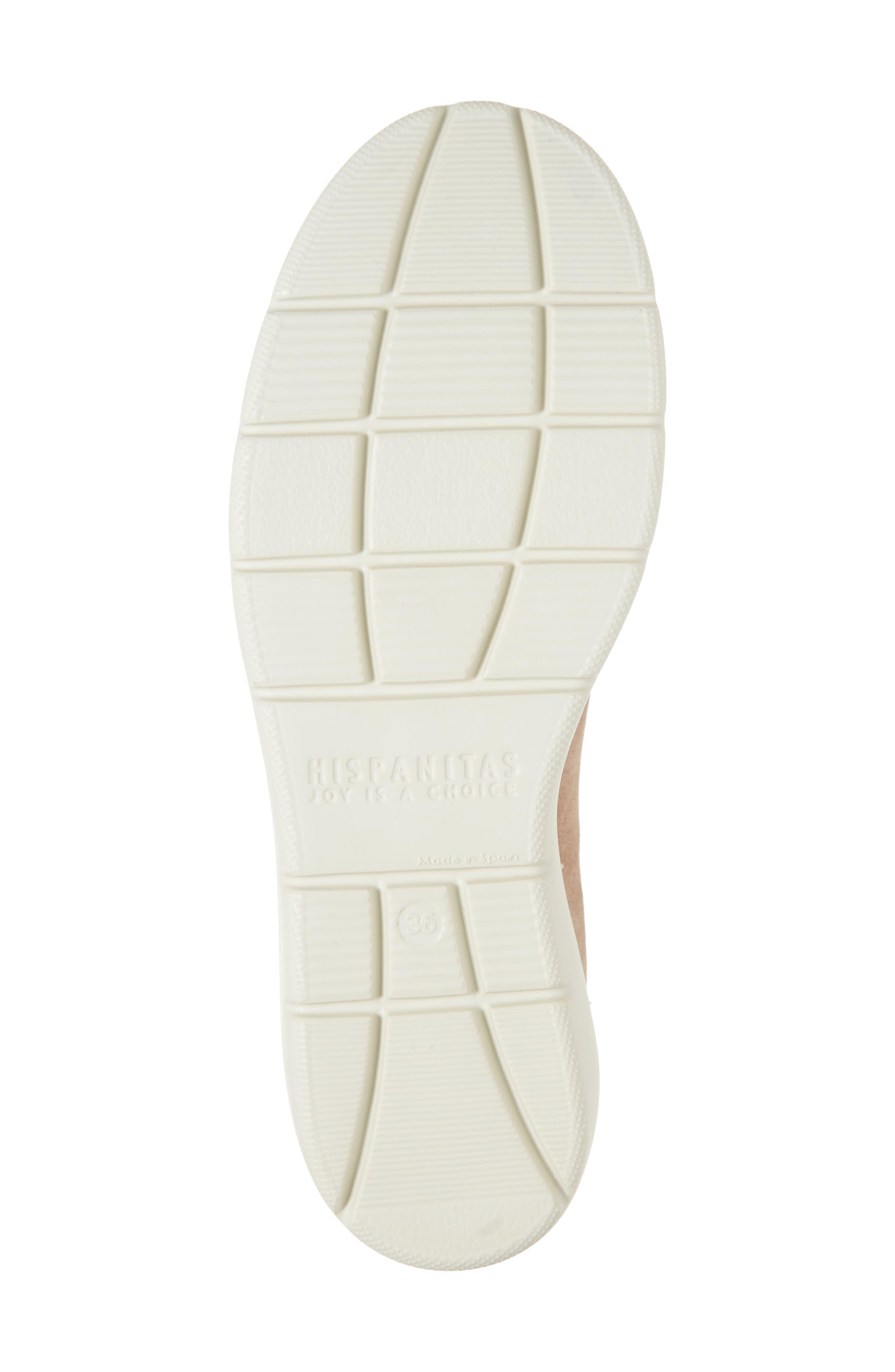 HISPANITAS, Benton Slip-On Wedge Sneaker, Alternate thumbnail 6, color, VELOUR FLESH LEATHER
