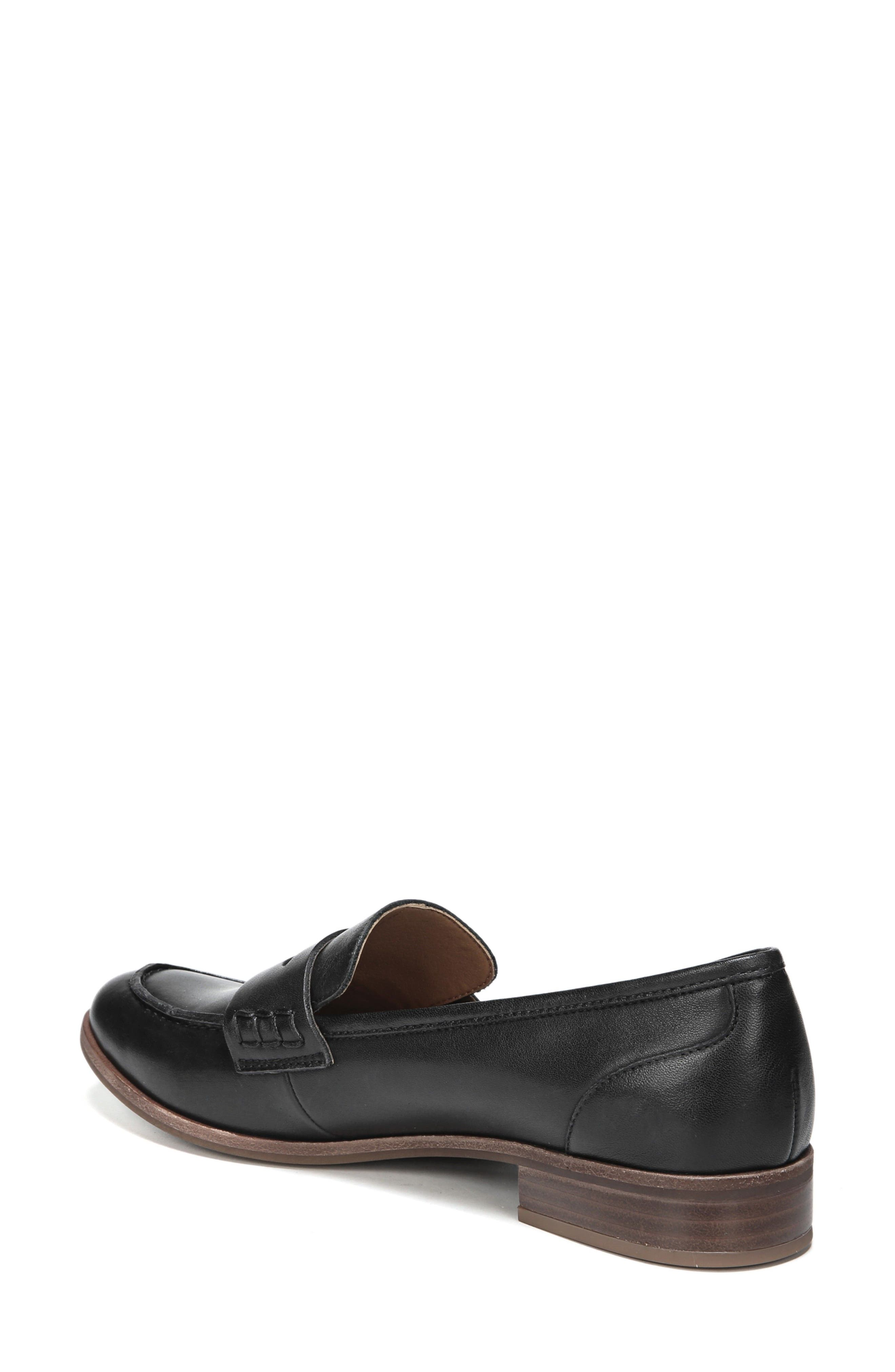 SARTO BY FRANCO SARTO, 'Jolette' Penny Loafer, Alternate thumbnail 2, color, BLACK LEATHER