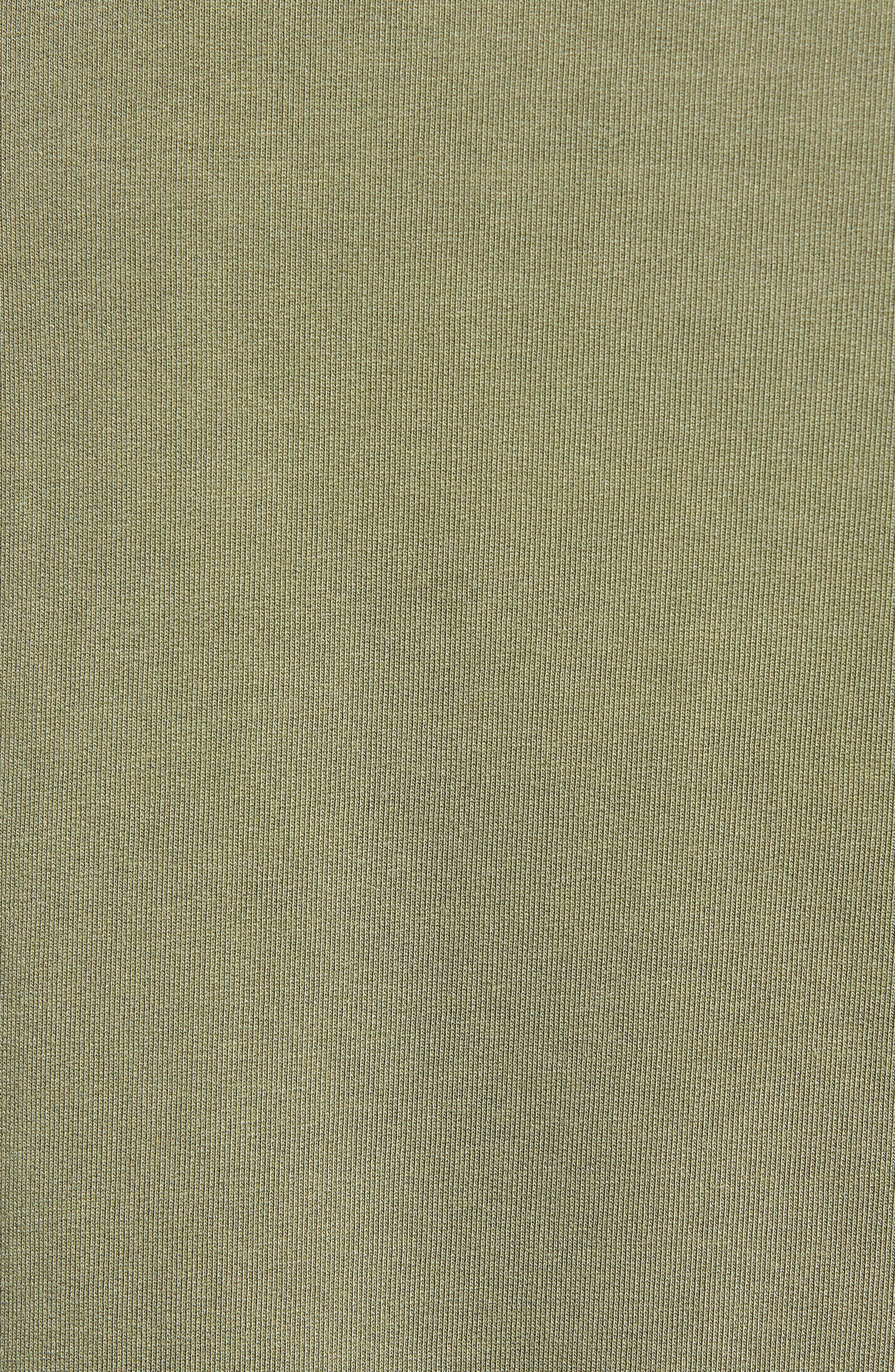 BP., Washed Mock Neck Sweatshirt, Alternate thumbnail 6, color, OLIVE BURNT