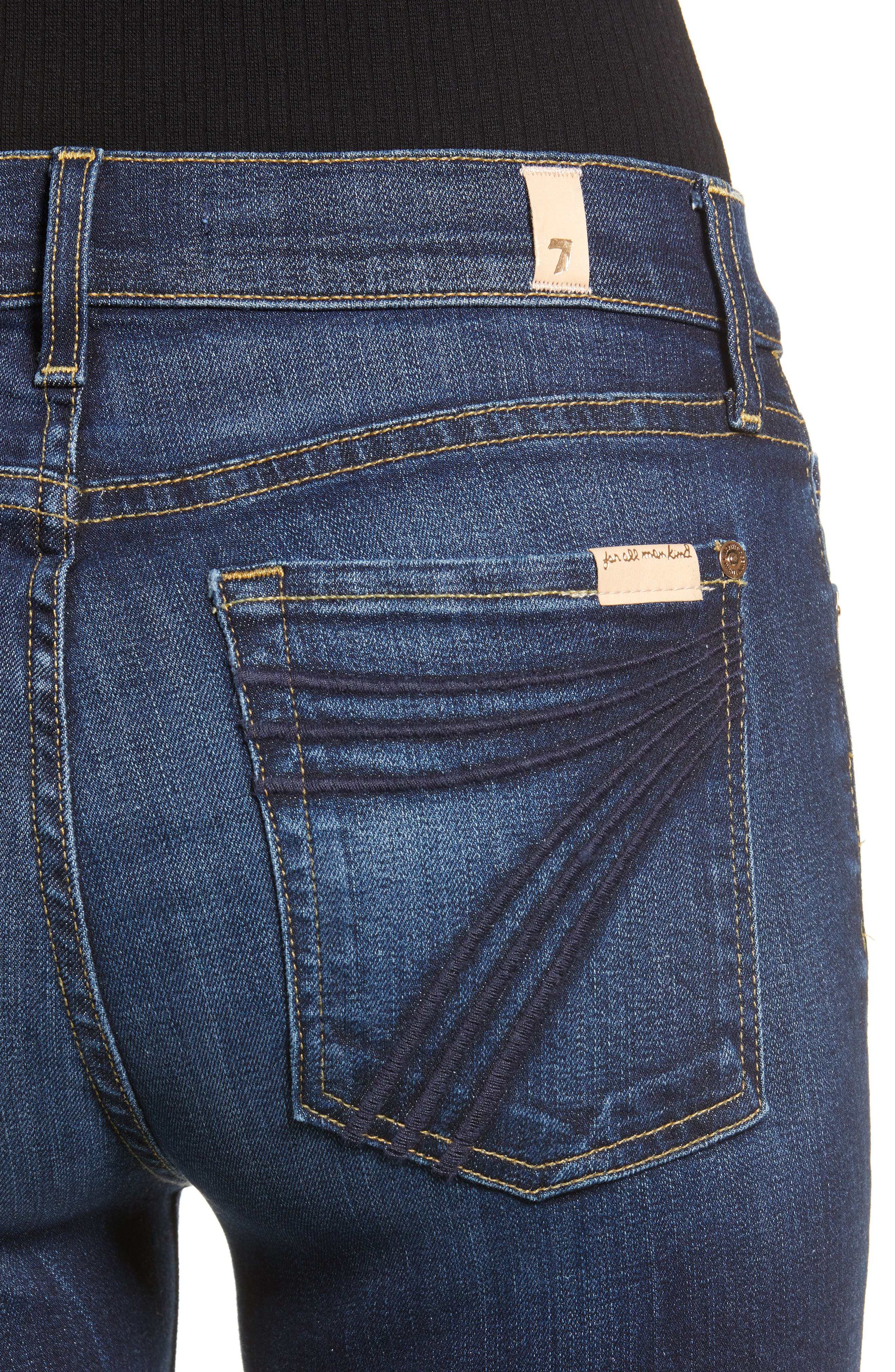 7 FOR ALL MANKIND<SUP>®</SUP>, Dojo Wide Leg Jeans, Alternate thumbnail 5, color, AUTHENTIC FATE