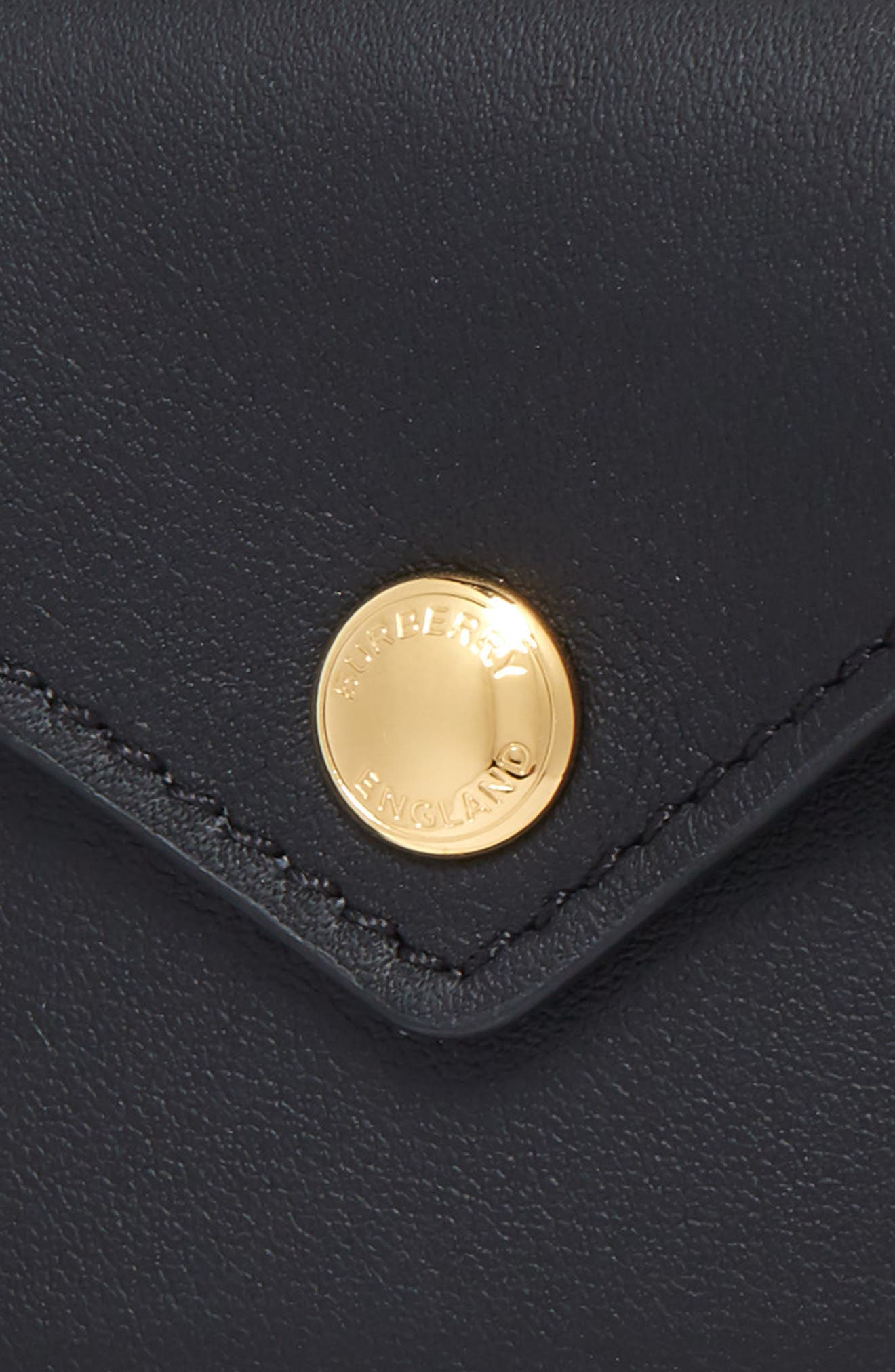 BURBERRY, Leather Belt Bag, Alternate thumbnail 3, color, BLACK