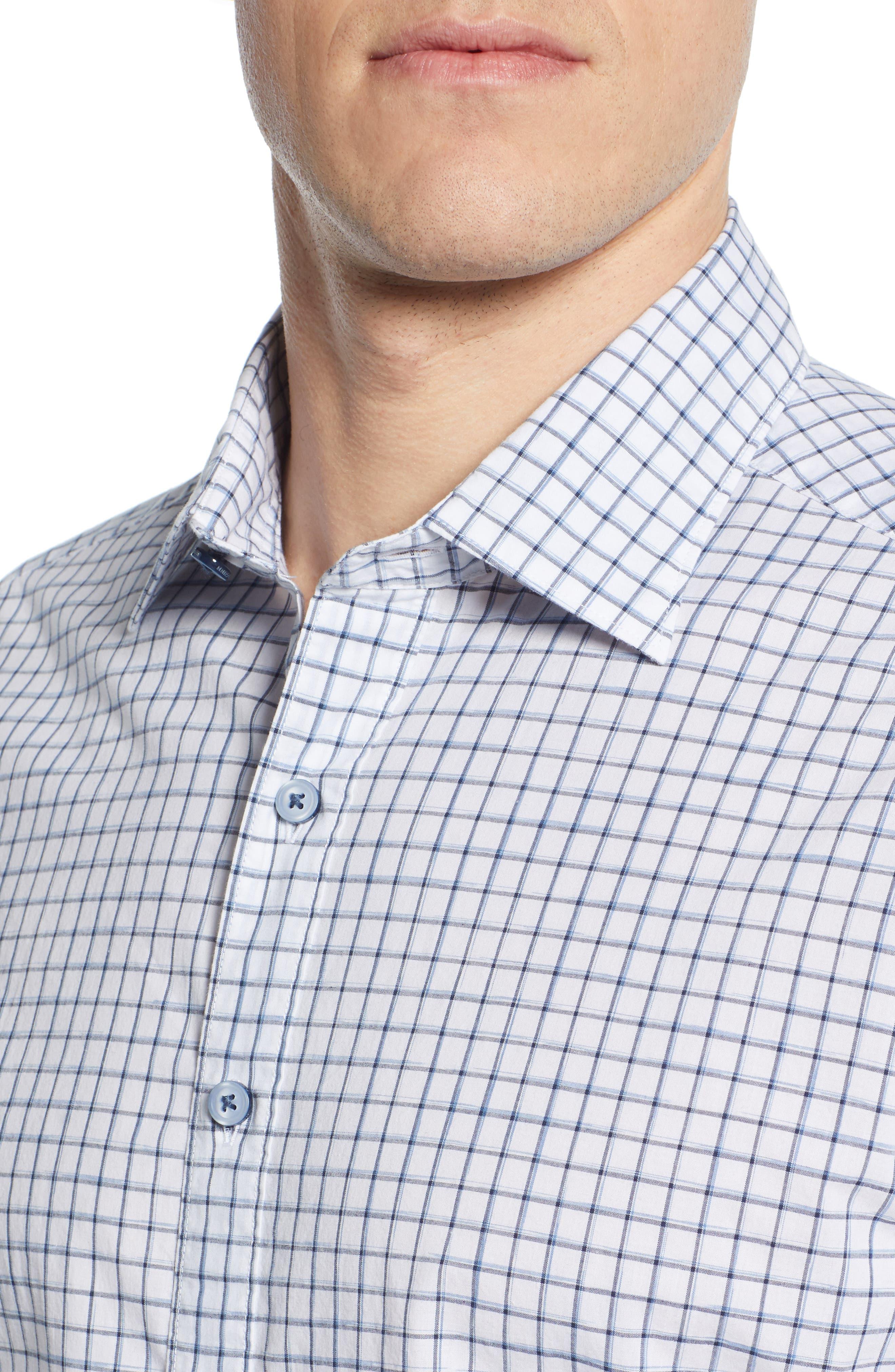 RODD & GUNN, Gowerville Regular Fit Check Sport Shirt, Alternate thumbnail 2, color, SNOW