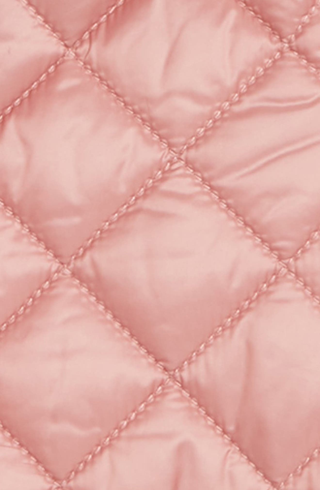 BURBERRY, Diamond Quilted Jacket, Alternate thumbnail 2, color, PALE ASH ROSE