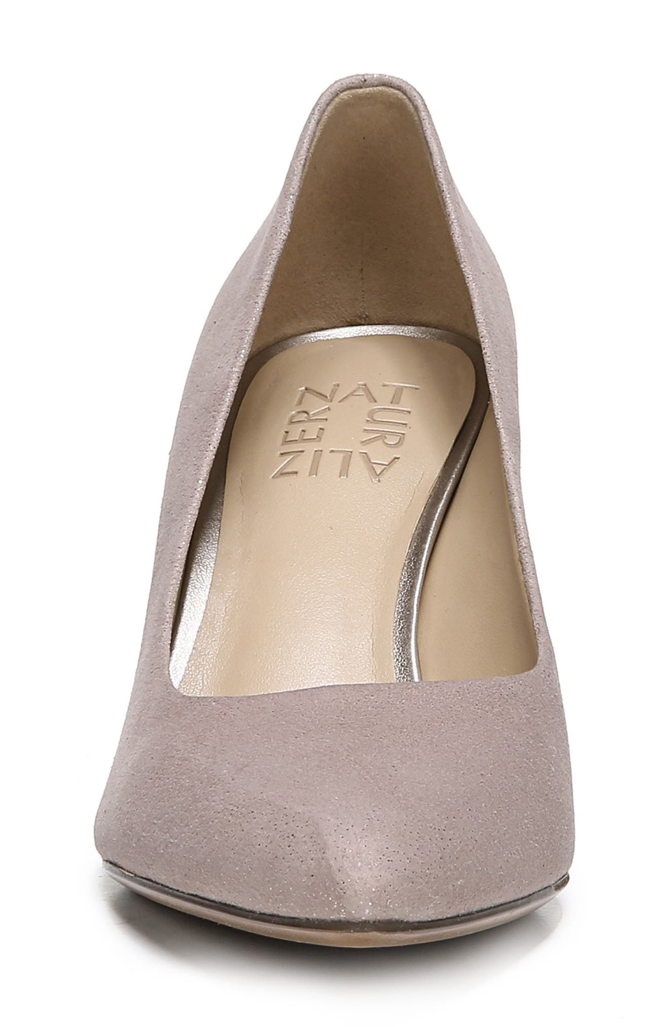 NATURALIZER, Natalie Pump, Alternate thumbnail 4, color, TAUPE GLITTER DUST SUEDE