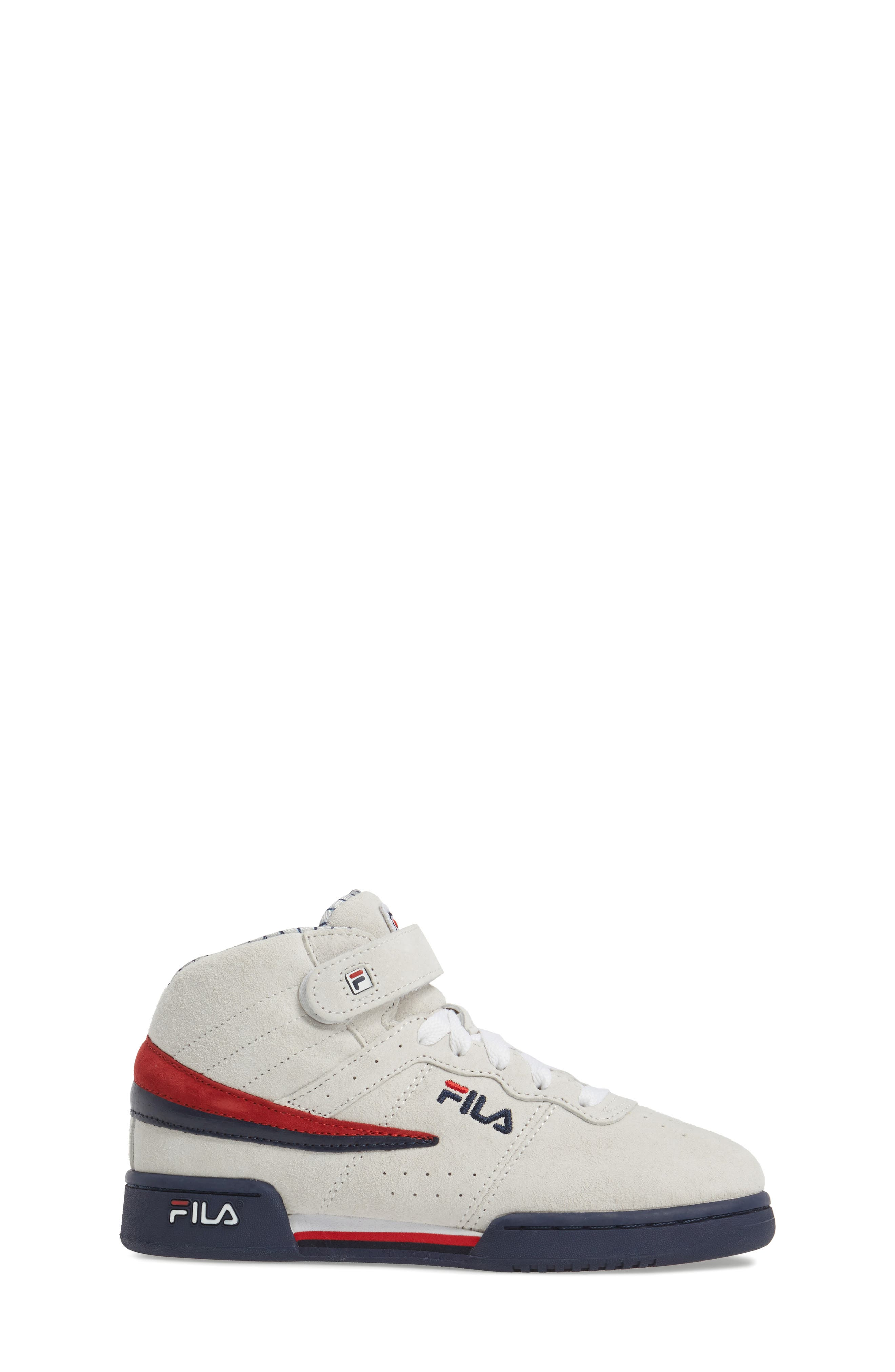 FILA, F-13 Mid Pinstripe Sneaker, Alternate thumbnail 3, color, 150