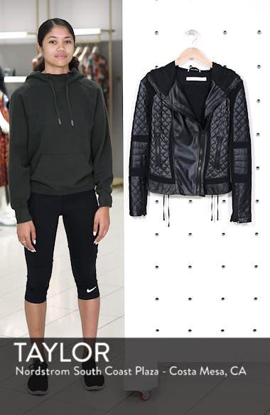 Voyage Hooded Leather & Mesh Moto Jacket, sales video thumbnail