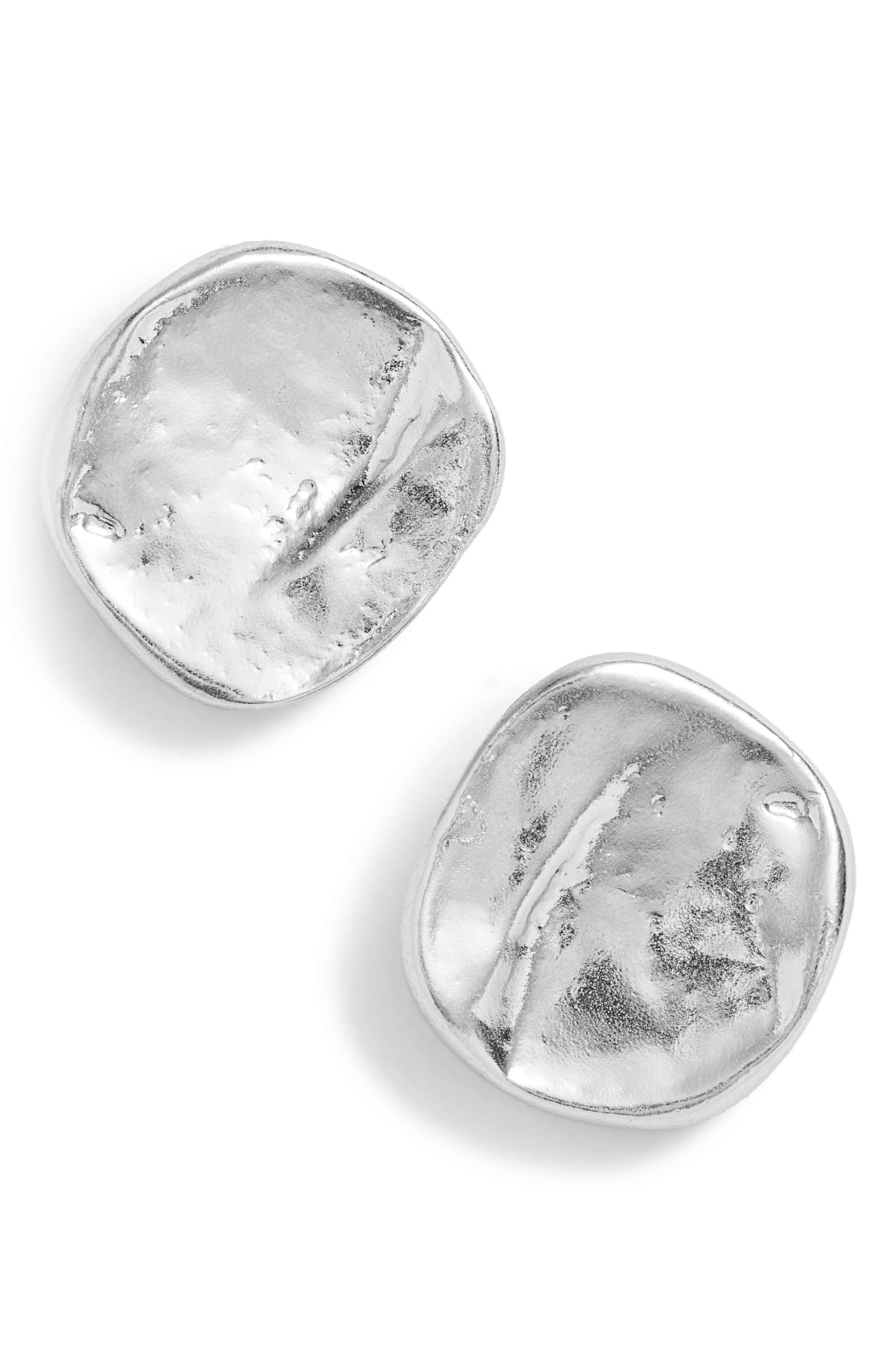 KARINE SULTAN, Stud Earrings, Main thumbnail 1, color, SILVER