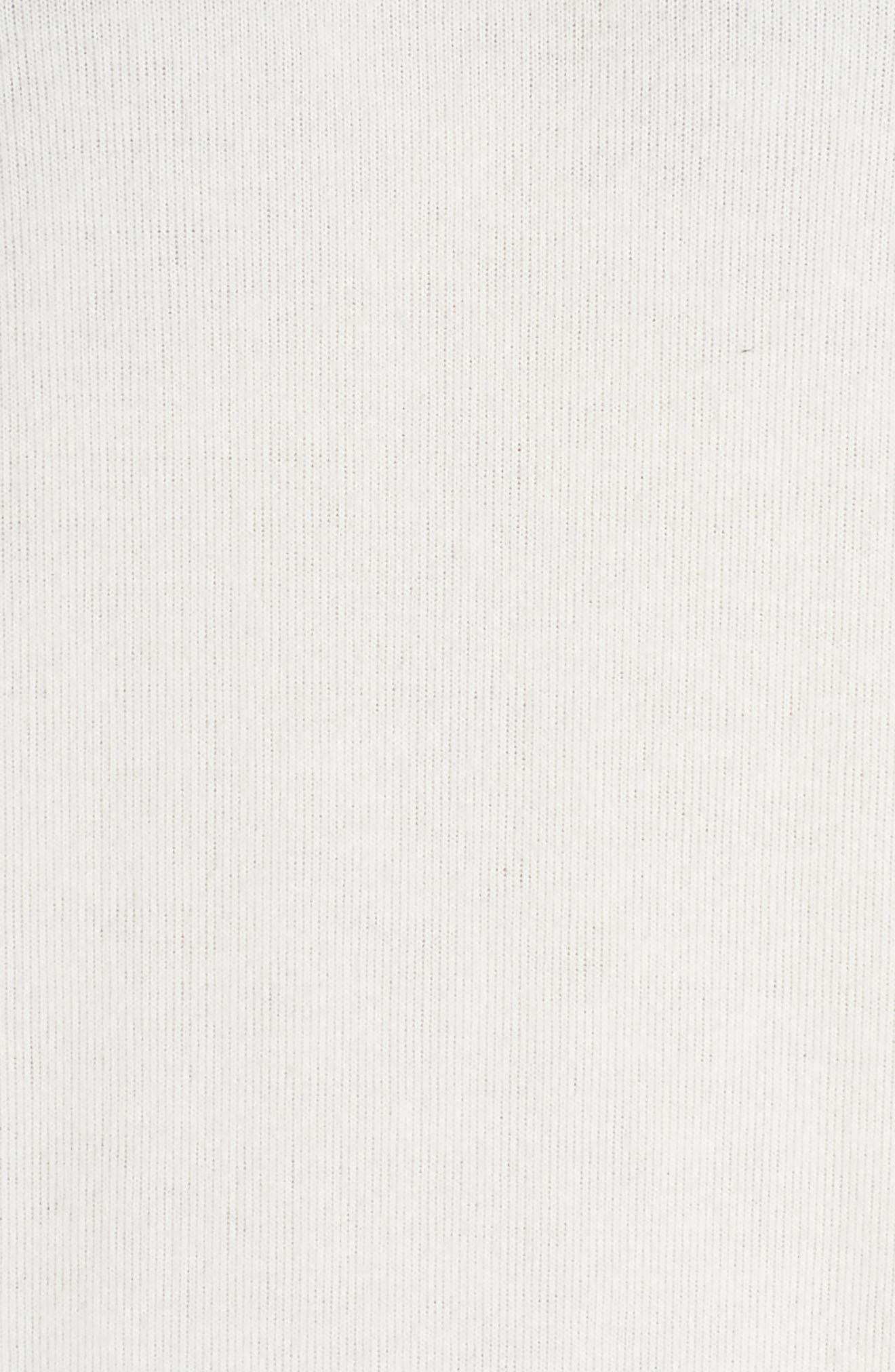 ALO, Soho Pullover, Alternate thumbnail 6, color, PRISTINE HEATHER