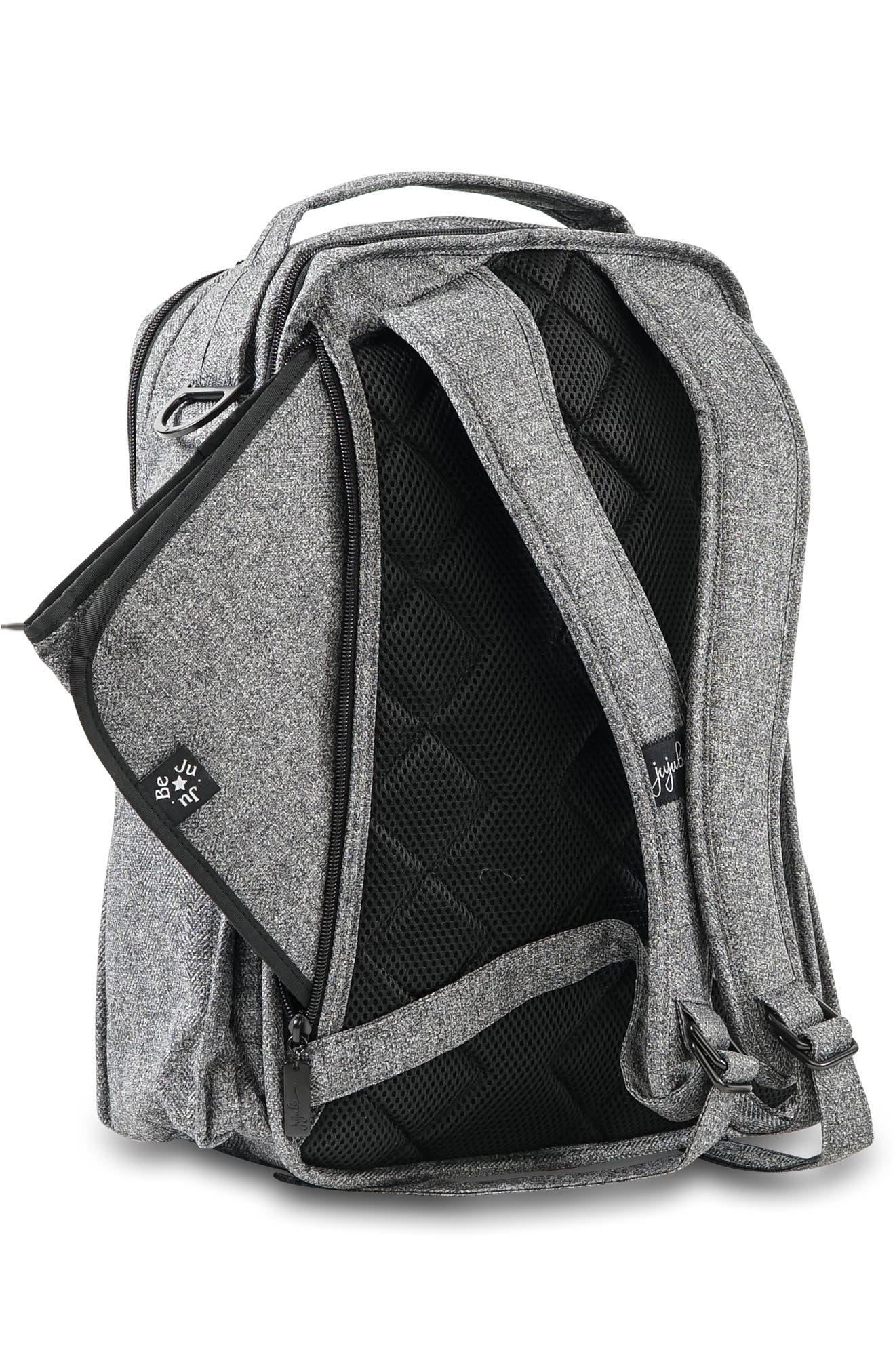 JU-JU-BE, 'Be Right Back - Onyx Collection' Diaper Backpack, Alternate thumbnail 5, color, GRAY MATTER