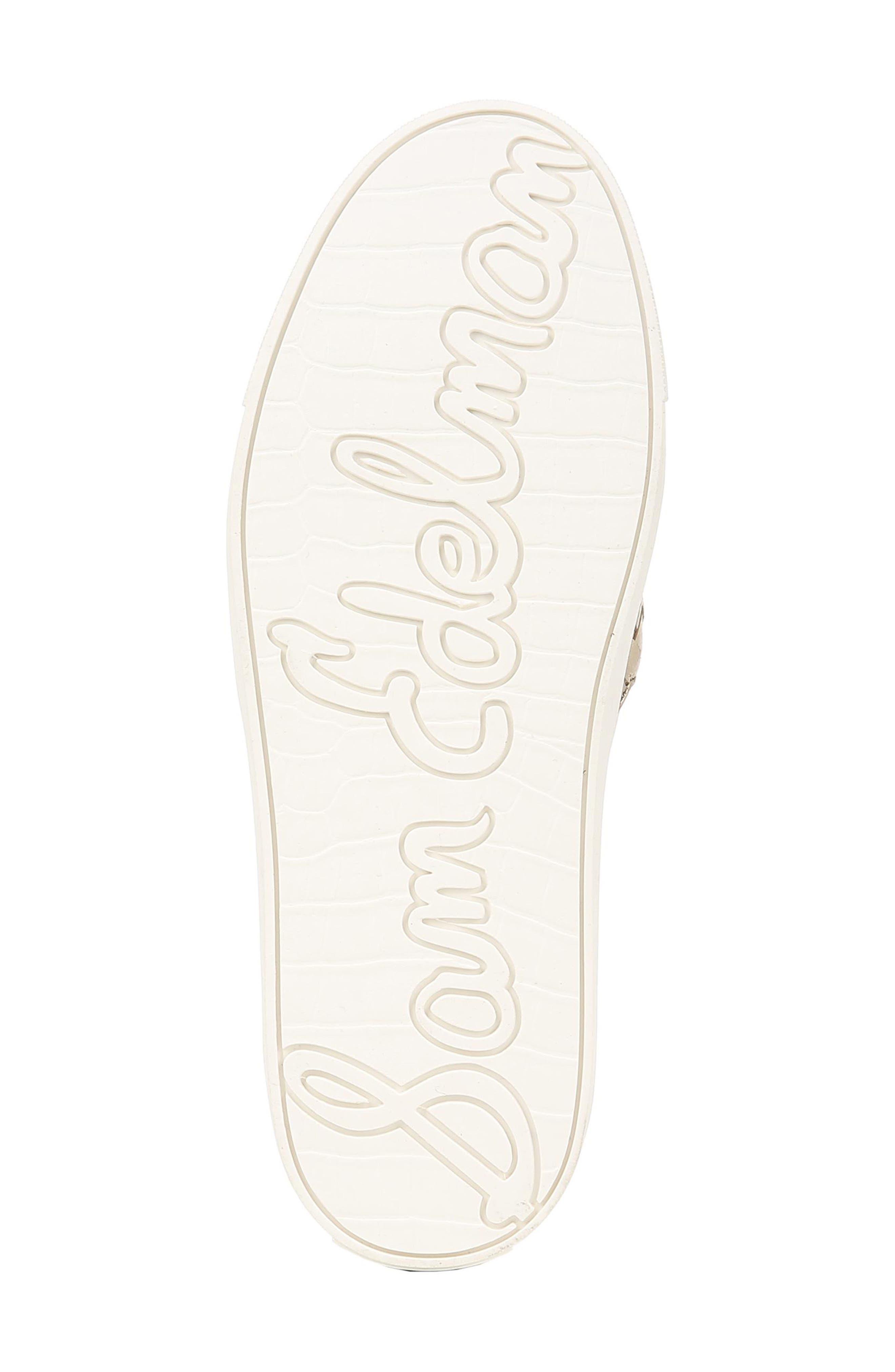 SAM EDELMAN, Eda Sneaker, Alternate thumbnail 6, color, MOLTEN GOLD LEATHER